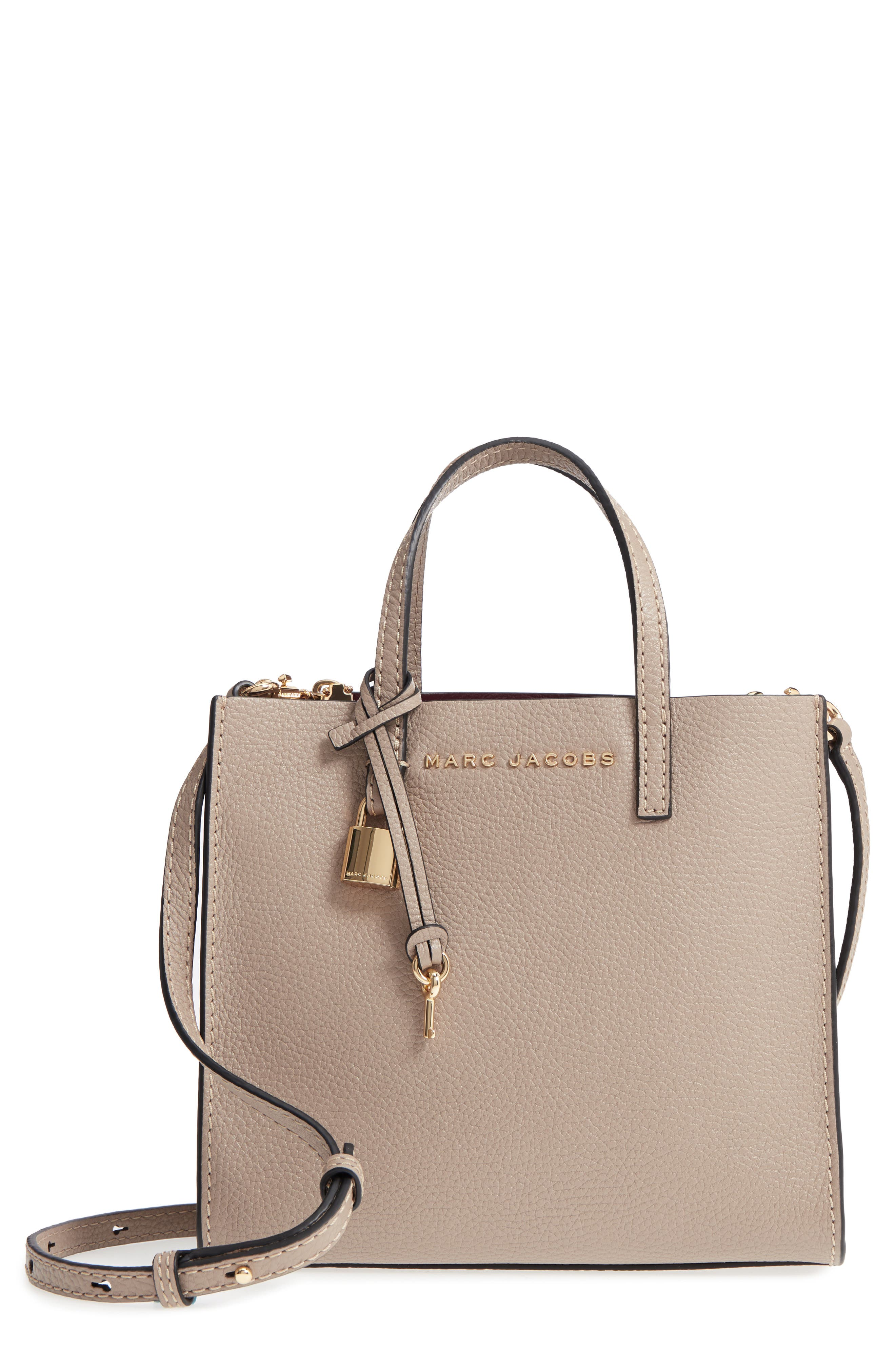 The Grind Mini Colorblock Leather Tote - Beige in Light Slate