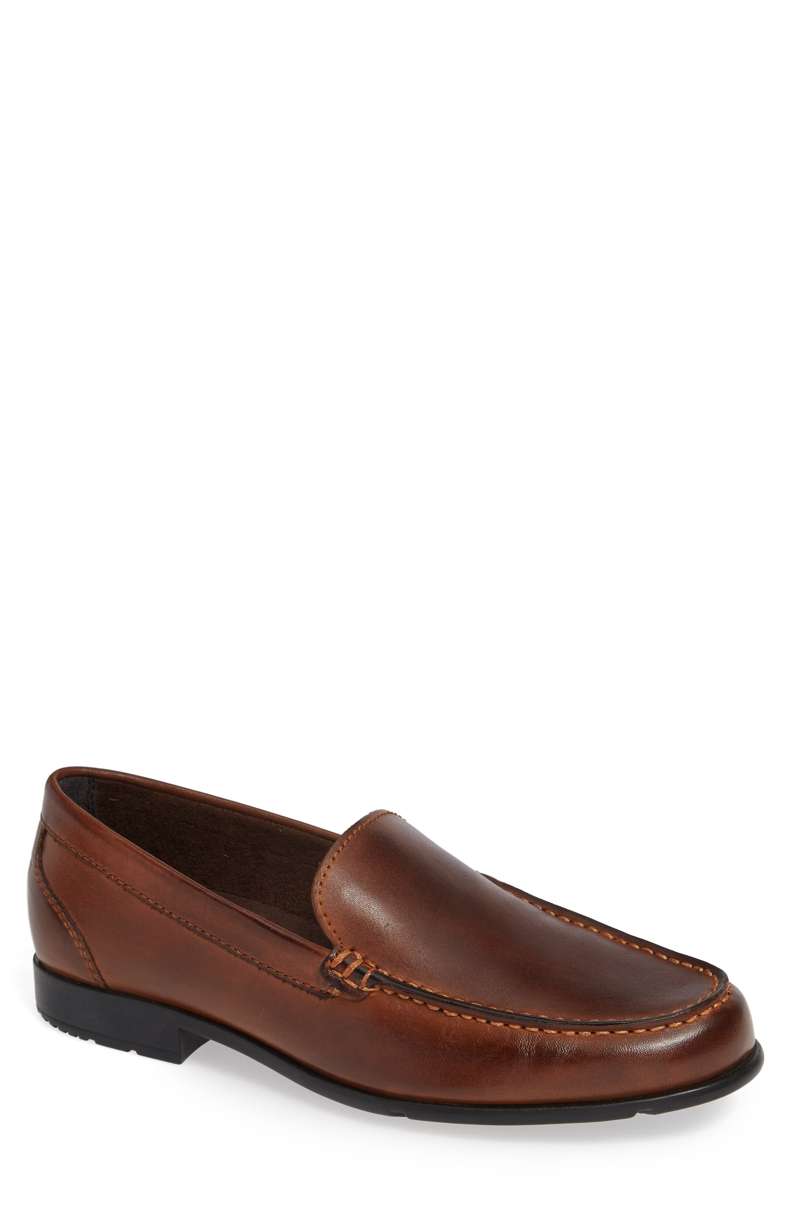Classic Venetian Loafer,                             Main thumbnail 1, color,                             DARK BROWN LEATHER