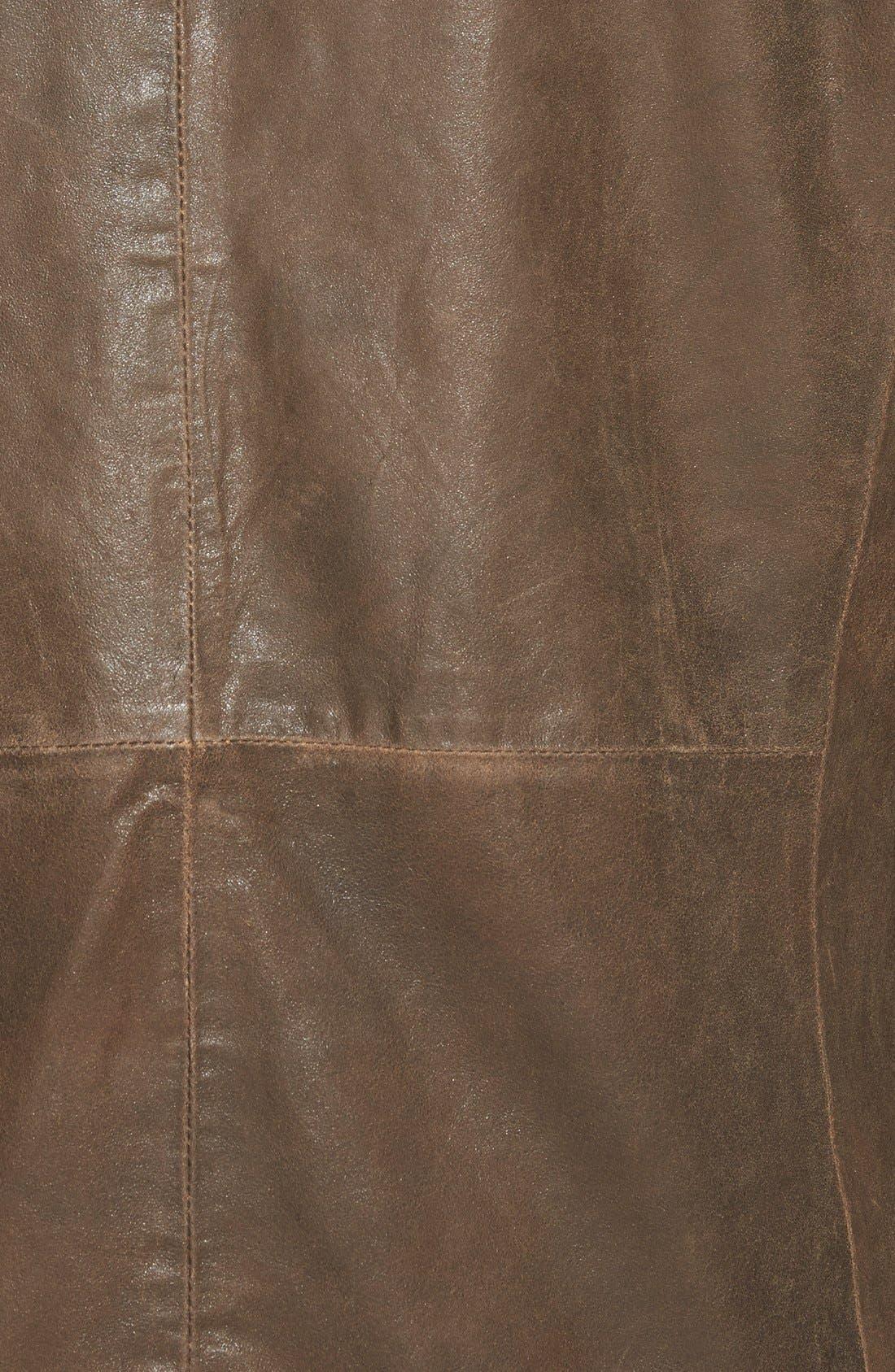 Trim Fit Lambskin Leather Sport Coat,                             Alternate thumbnail 3, color,                             200