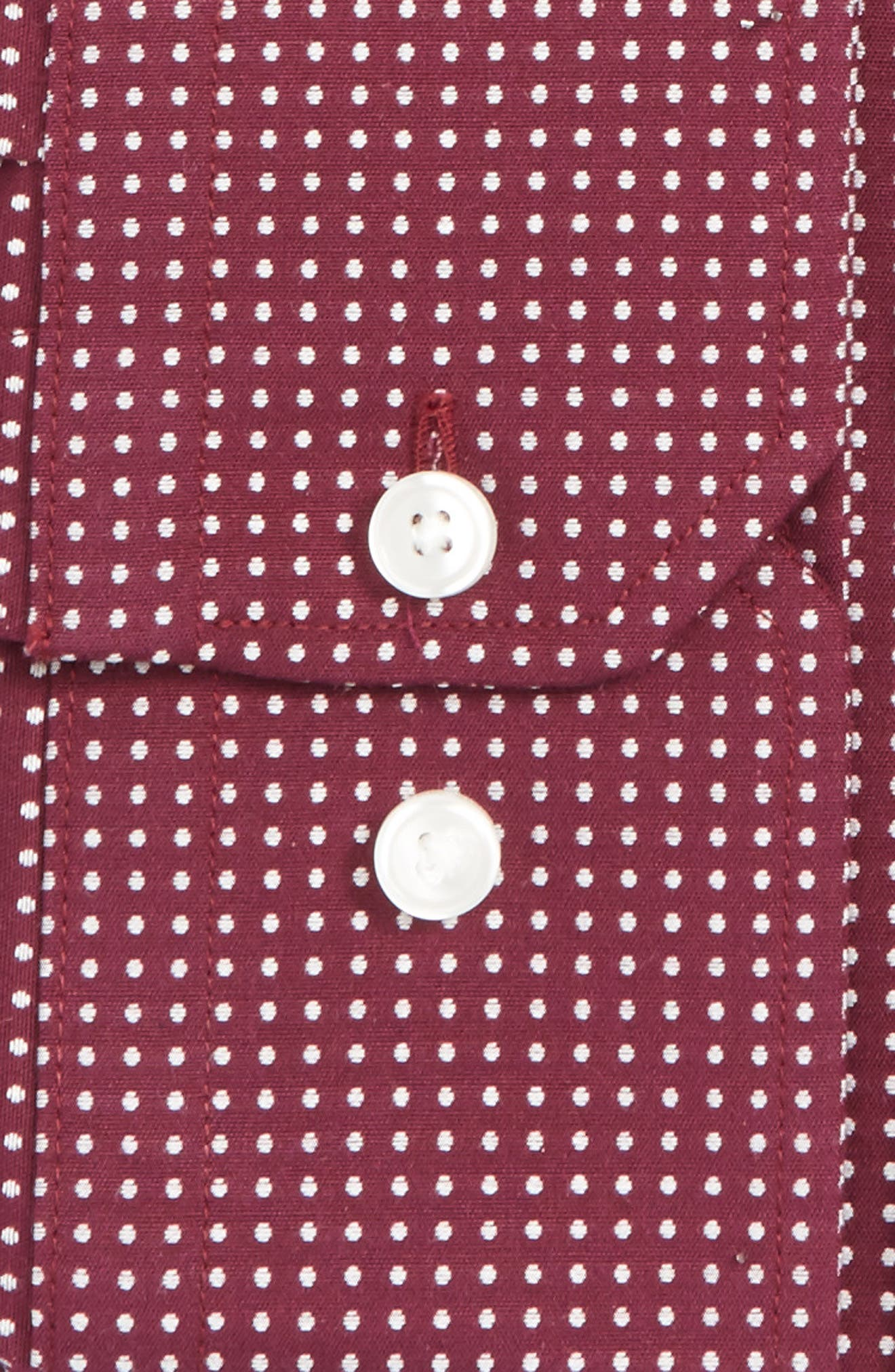 Trim Fit Non-Iron Dot Stretch Dress Shirt,                         Main,                         color, 935