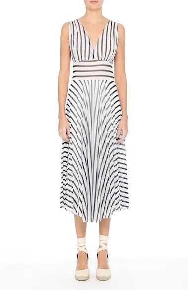 Multistripe Midi Dress, video thumbnail