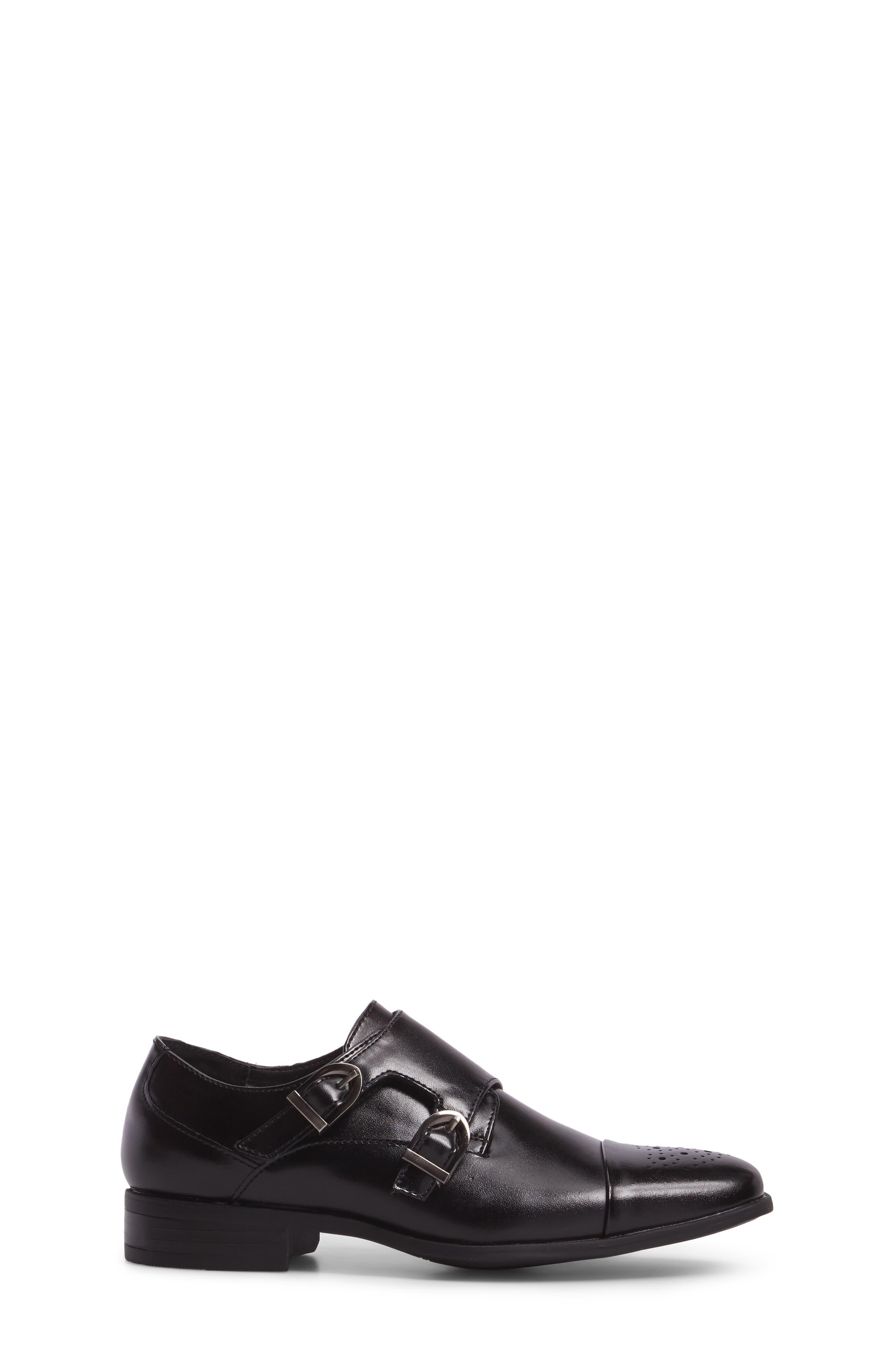 Trevor Cap Toe Monk Shoe,                             Alternate thumbnail 3, color,                             001