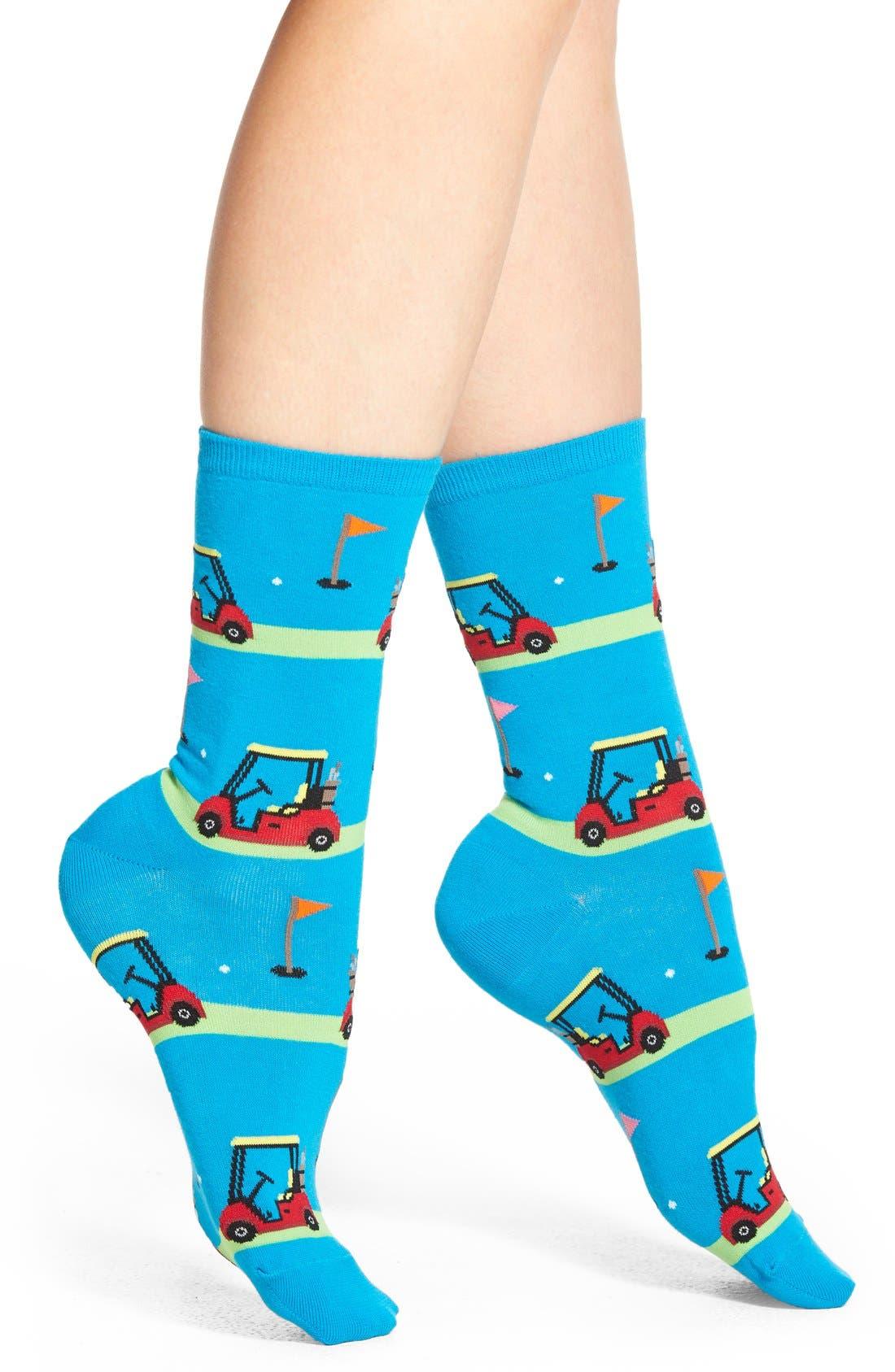 'Golf Carts' Crew Socks,                             Main thumbnail 2, color,