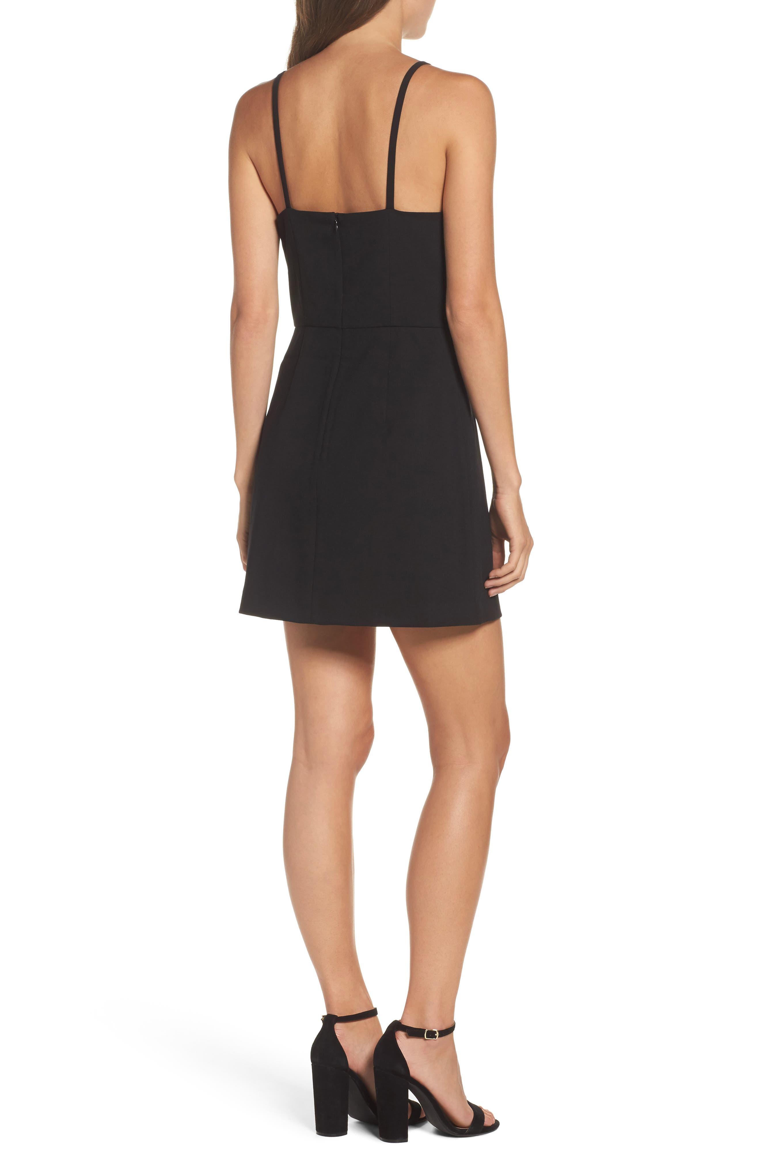 Whisper Light Sheath Dress,                             Alternate thumbnail 2, color,                             BLACK