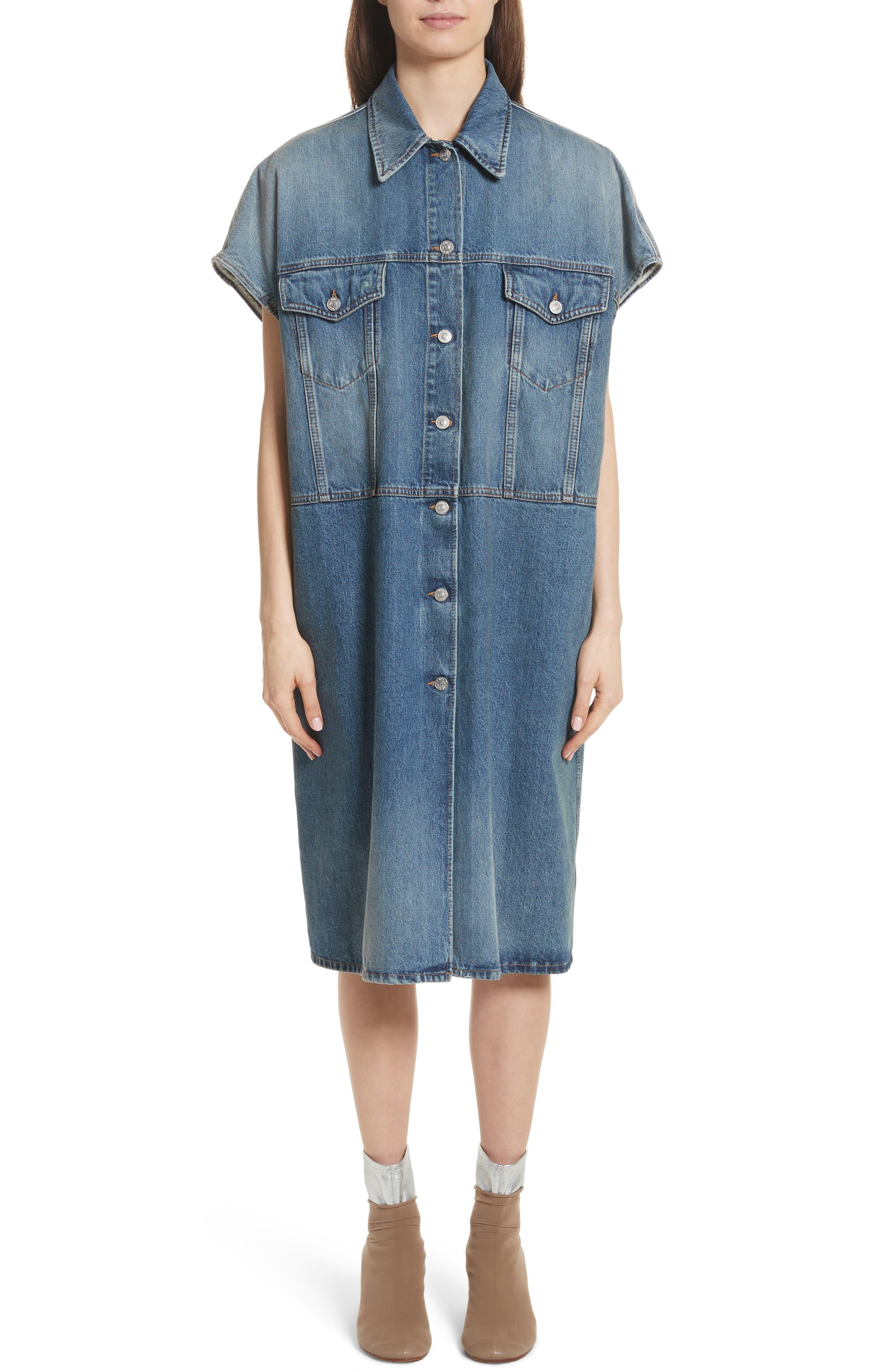 Denim Dress,                         Main,                         color, 404