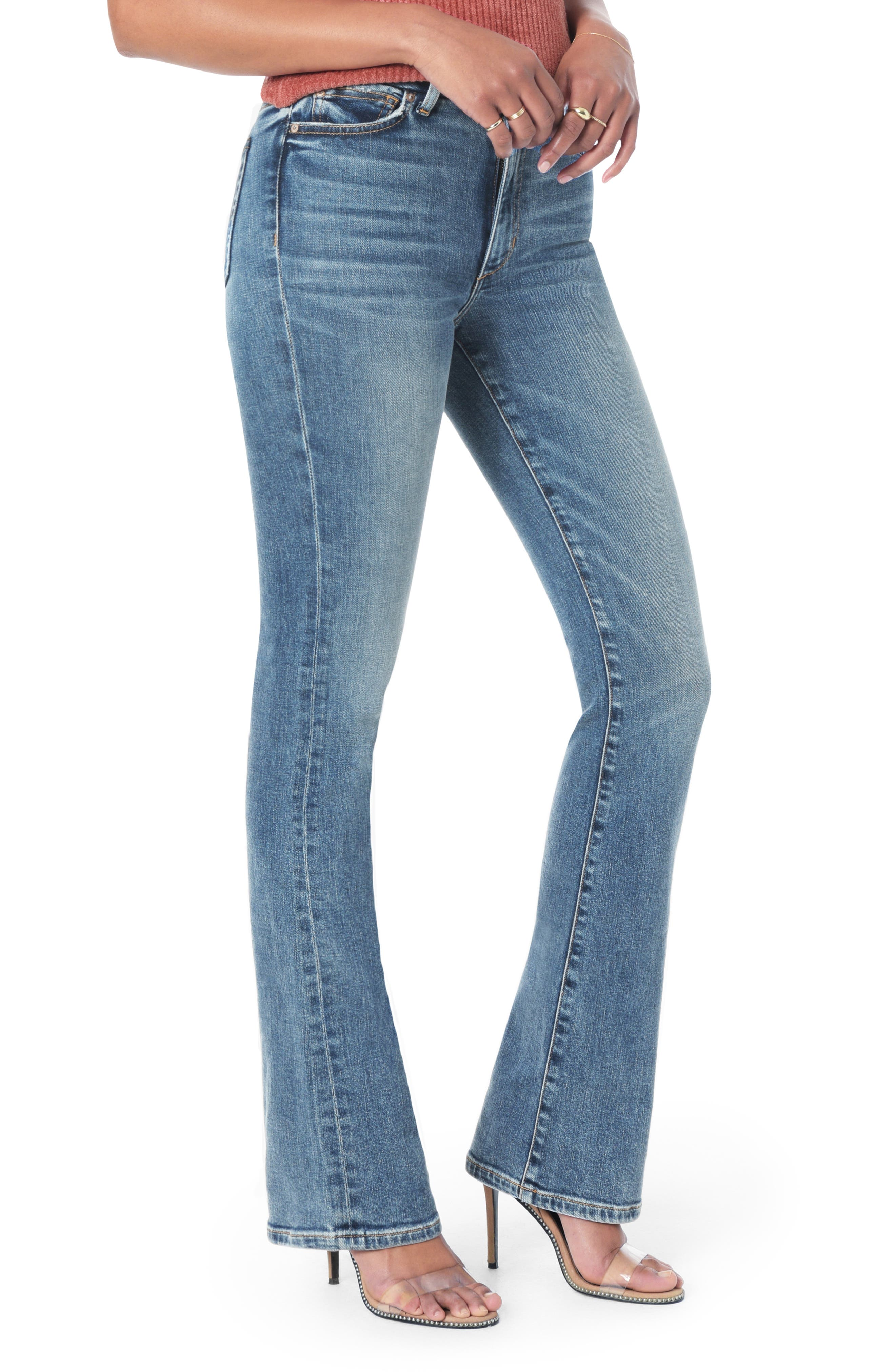 Honey Curvy High Waist Bootcut Jeans, Main, color, CHRISELLE