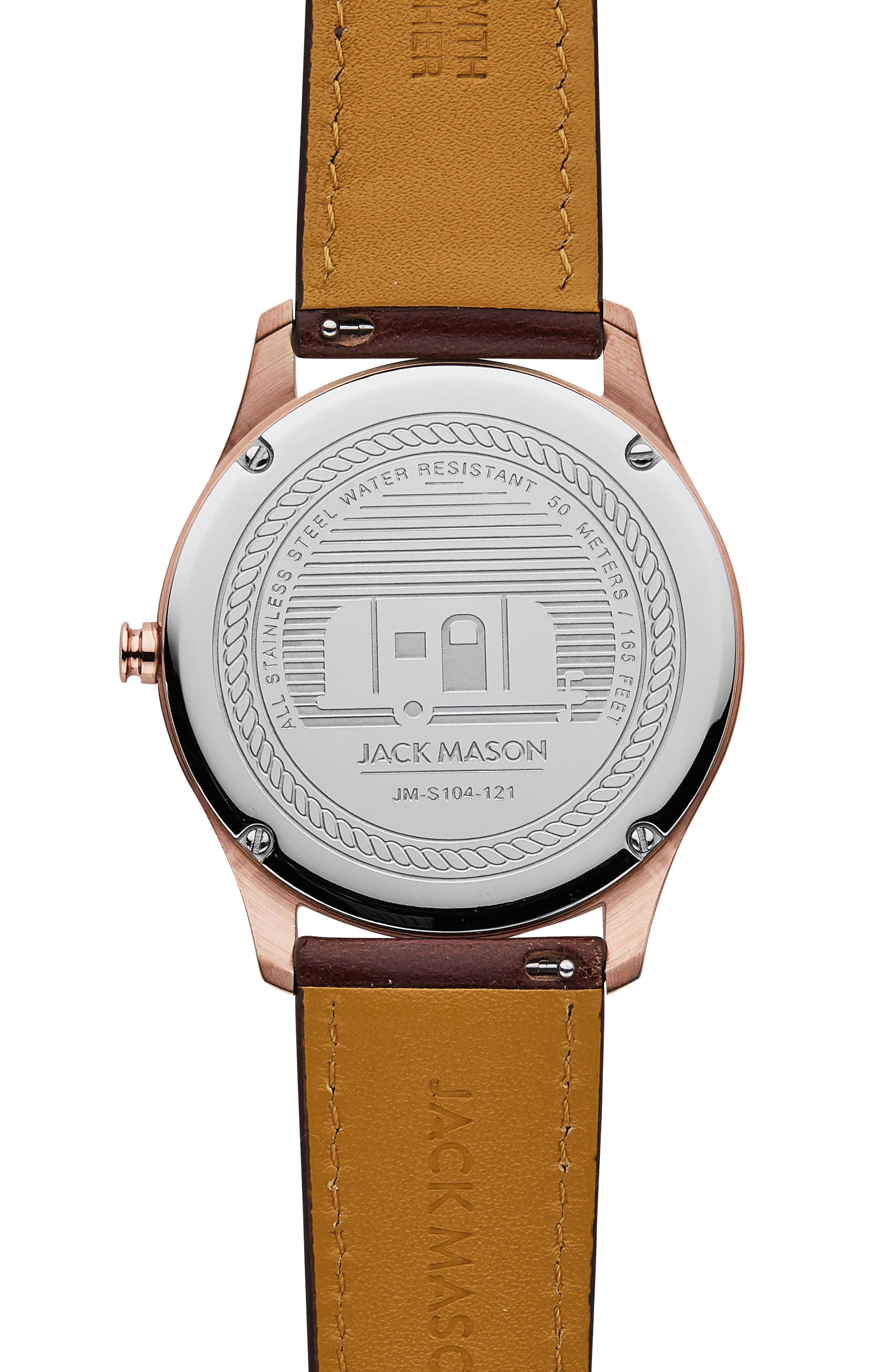 Slim Leather Strap Watch, 42mm,                             Alternate thumbnail 2, color,                             202