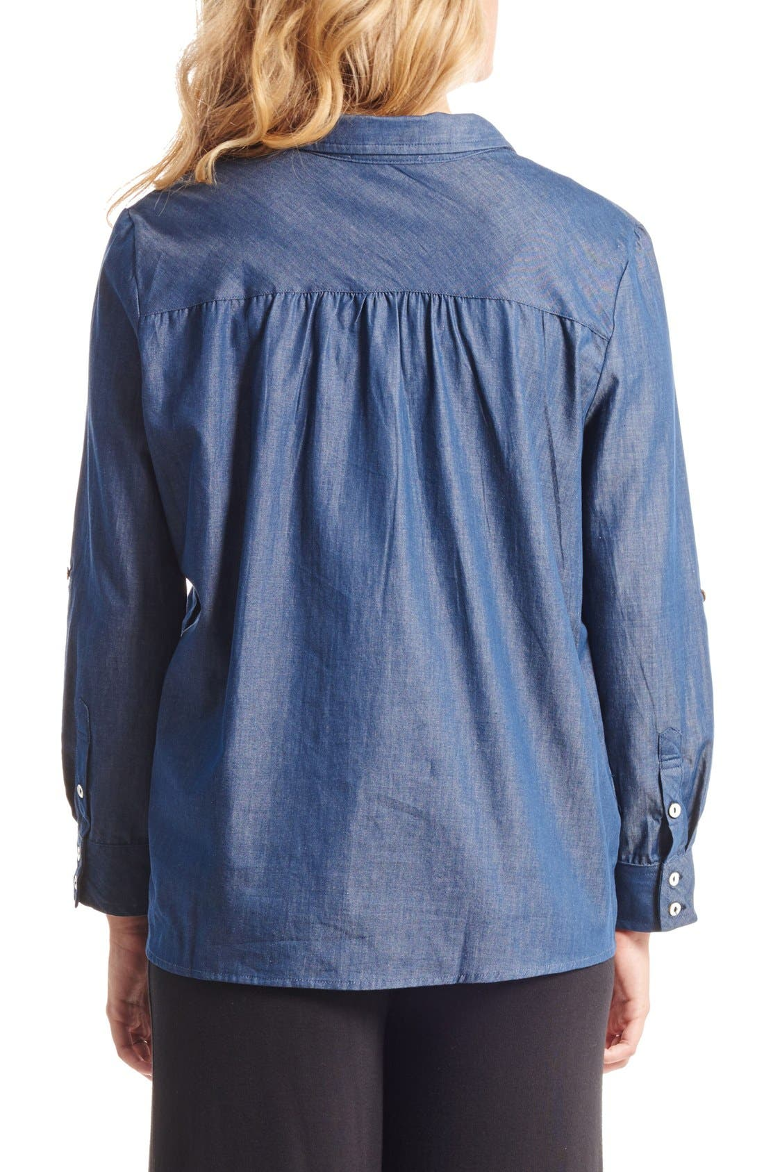 'Batina' Maternity Shirt,                             Alternate thumbnail 2, color,                             INDIGO