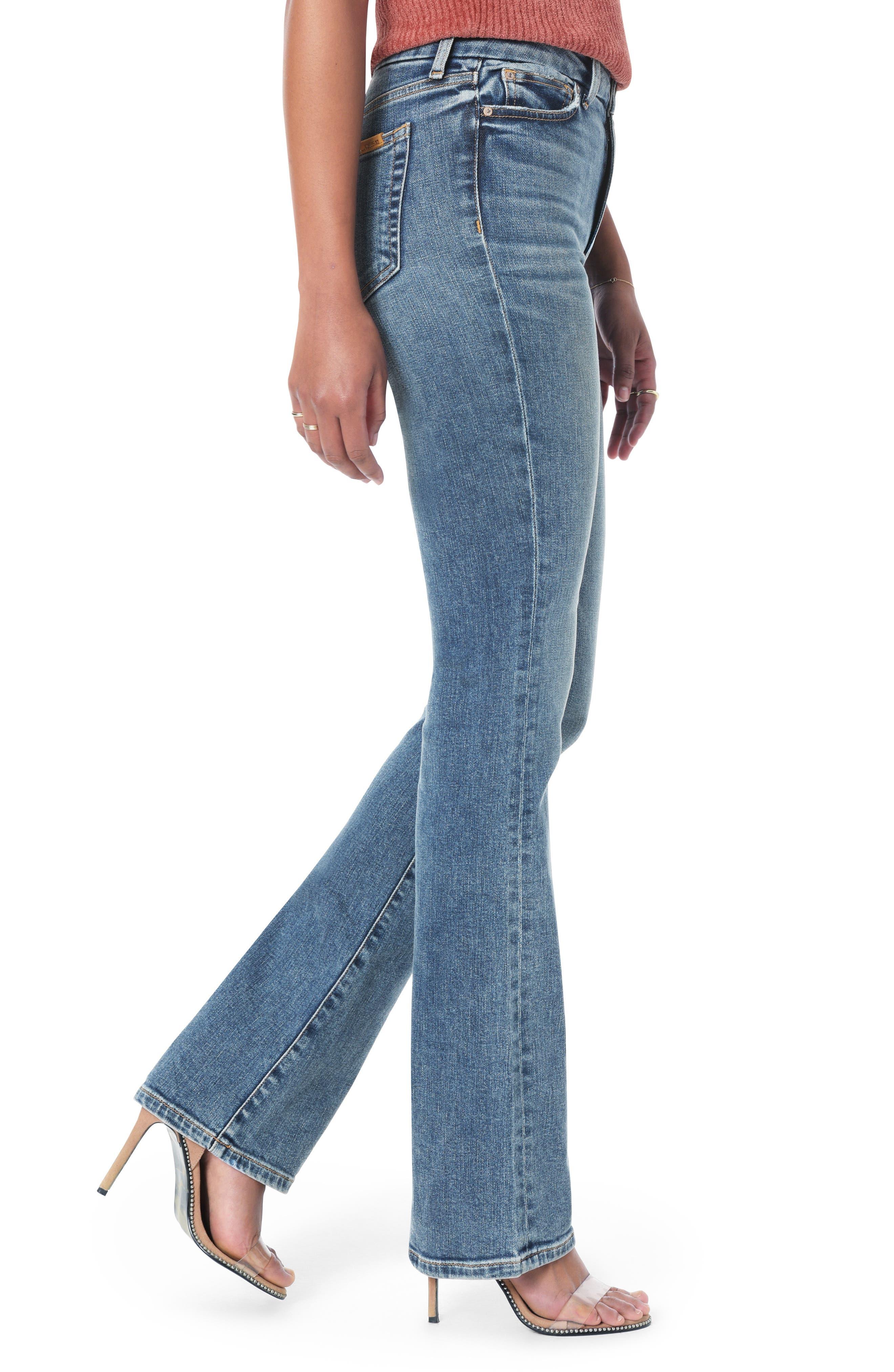 Honey Curvy High Waist Bootcut Jeans,                             Alternate thumbnail 3, color,                             CHRISELLE
