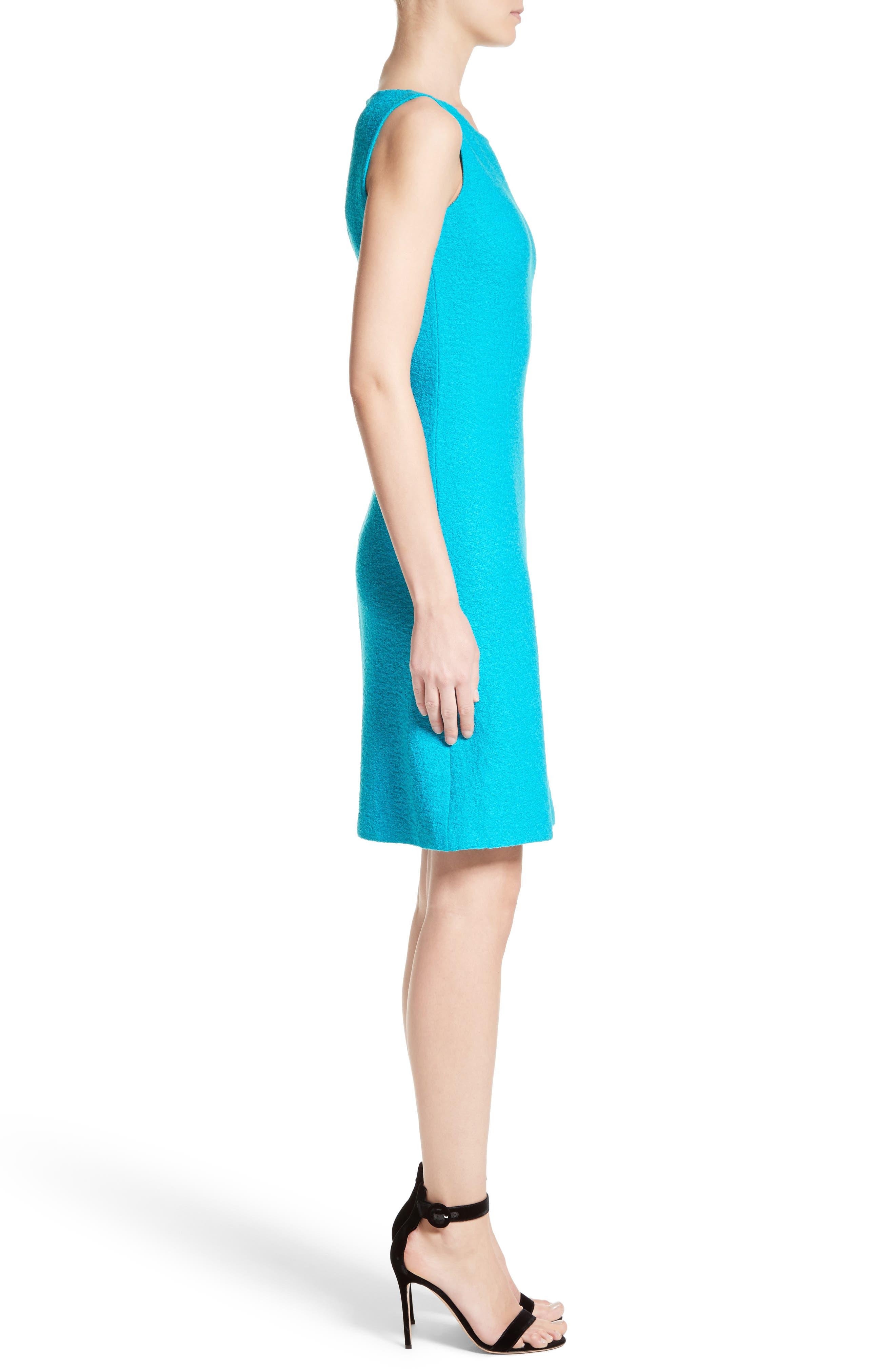 Clair Knit A-Line Dress,                             Alternate thumbnail 3, color,                             440