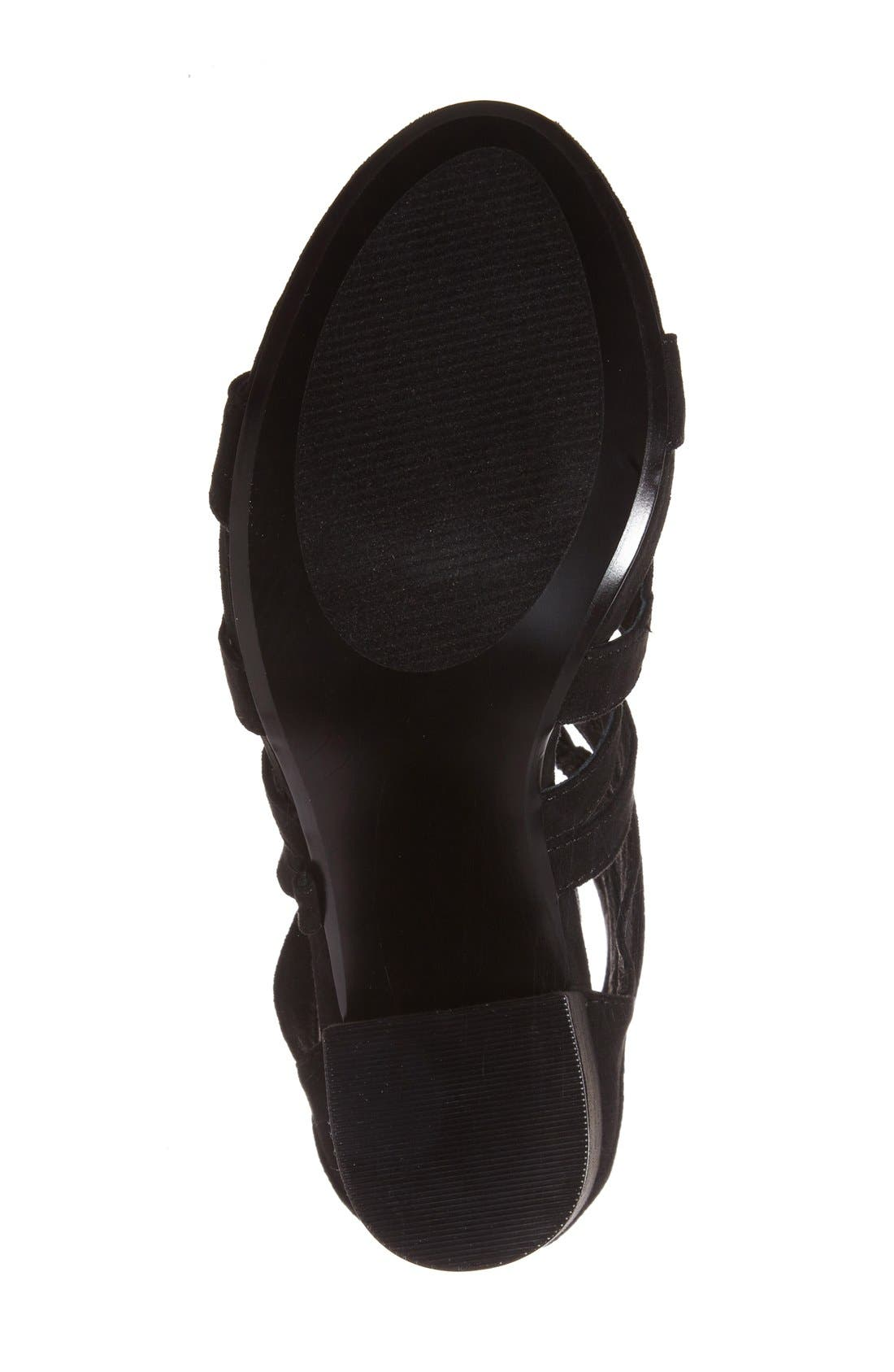 'Gal' Strappy Lace-Up Sandal,                             Alternate thumbnail 4, color,                             019