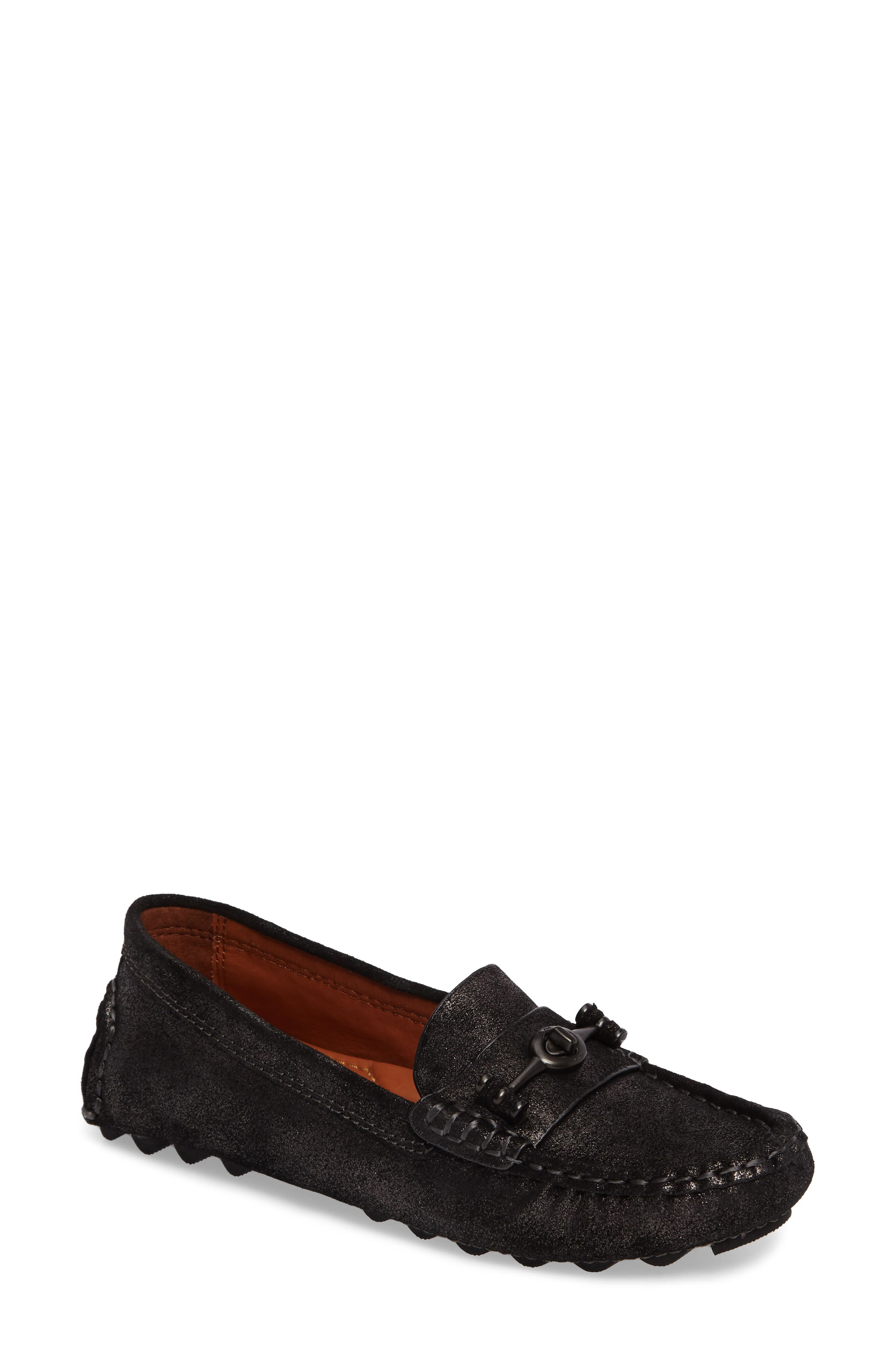 Crosby Driving Loafer,                             Main thumbnail 1, color,                             ANTHRACITE SUEDE