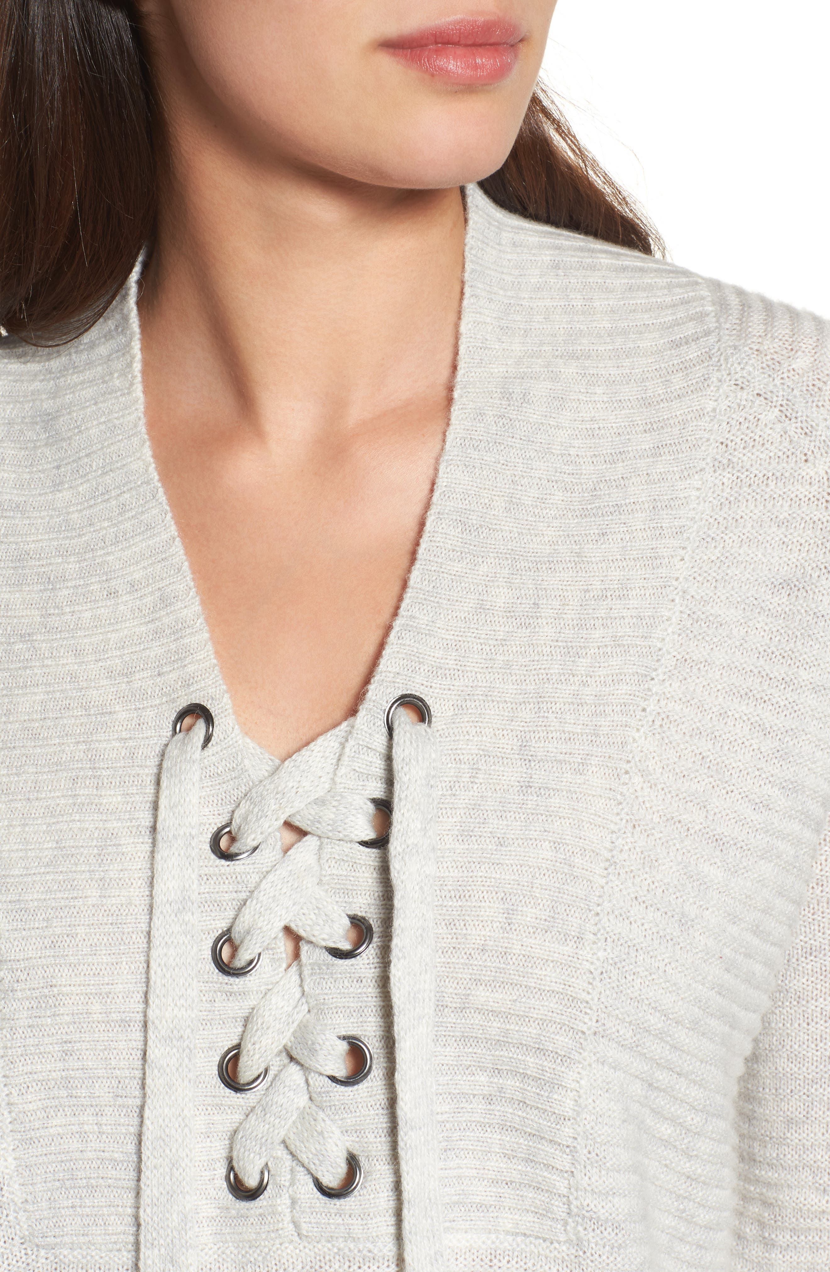 Lace-Up Sweater,                             Alternate thumbnail 7, color,