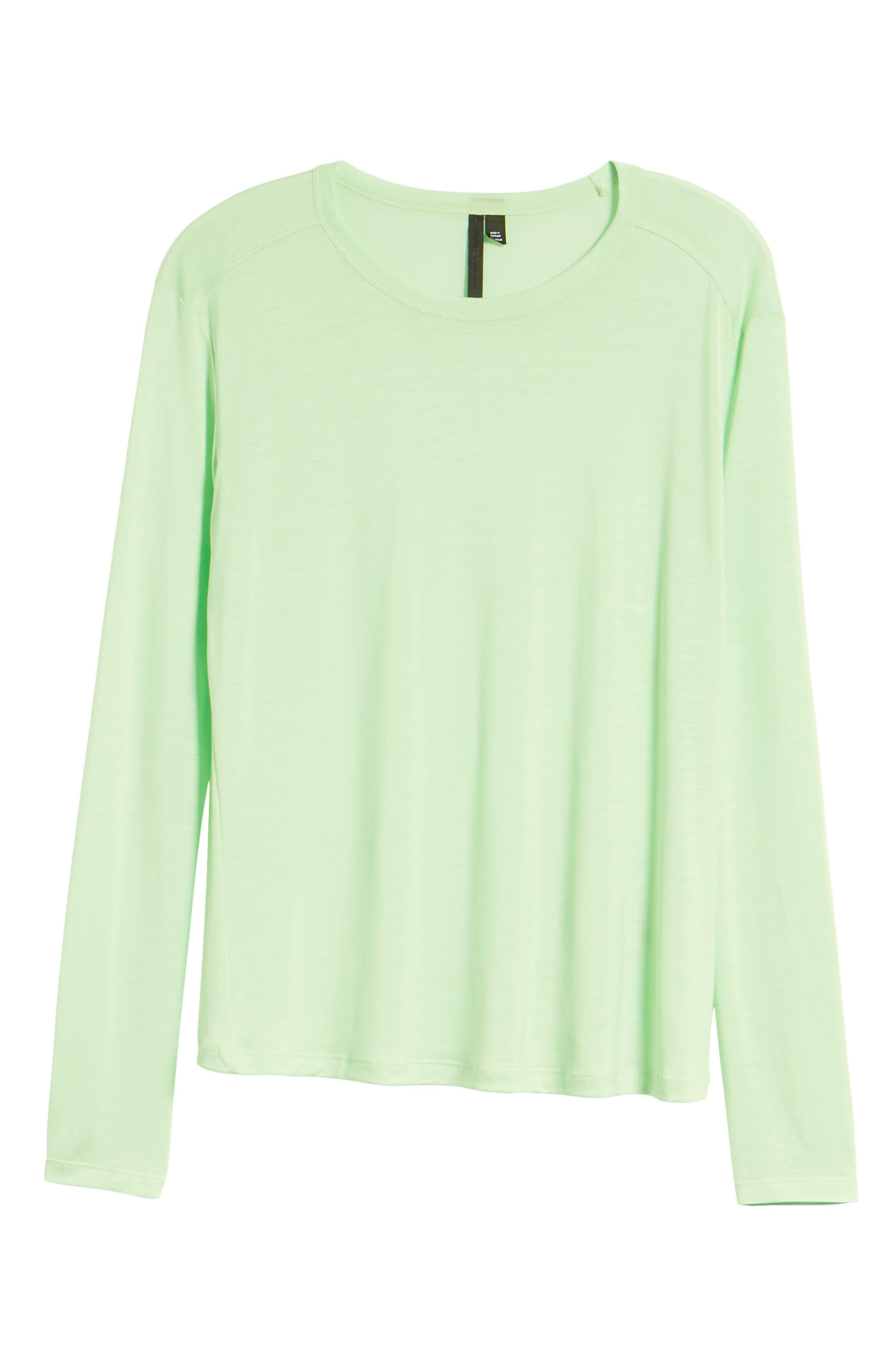 Lyocell Long Sleeve T-Shirt,                             Alternate thumbnail 15, color,