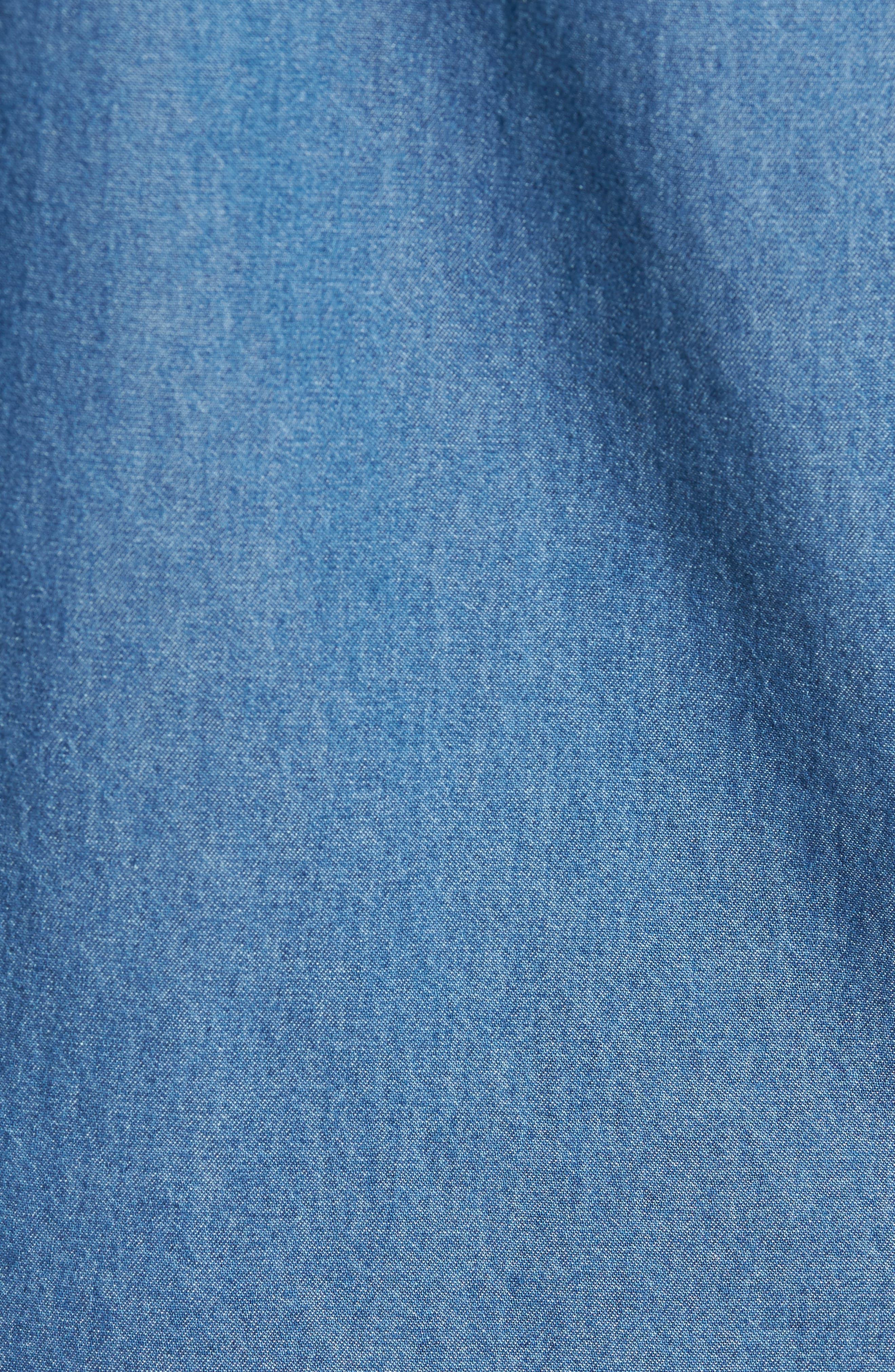 Kebble Denim Shirt,                             Alternate thumbnail 5, color,                             450