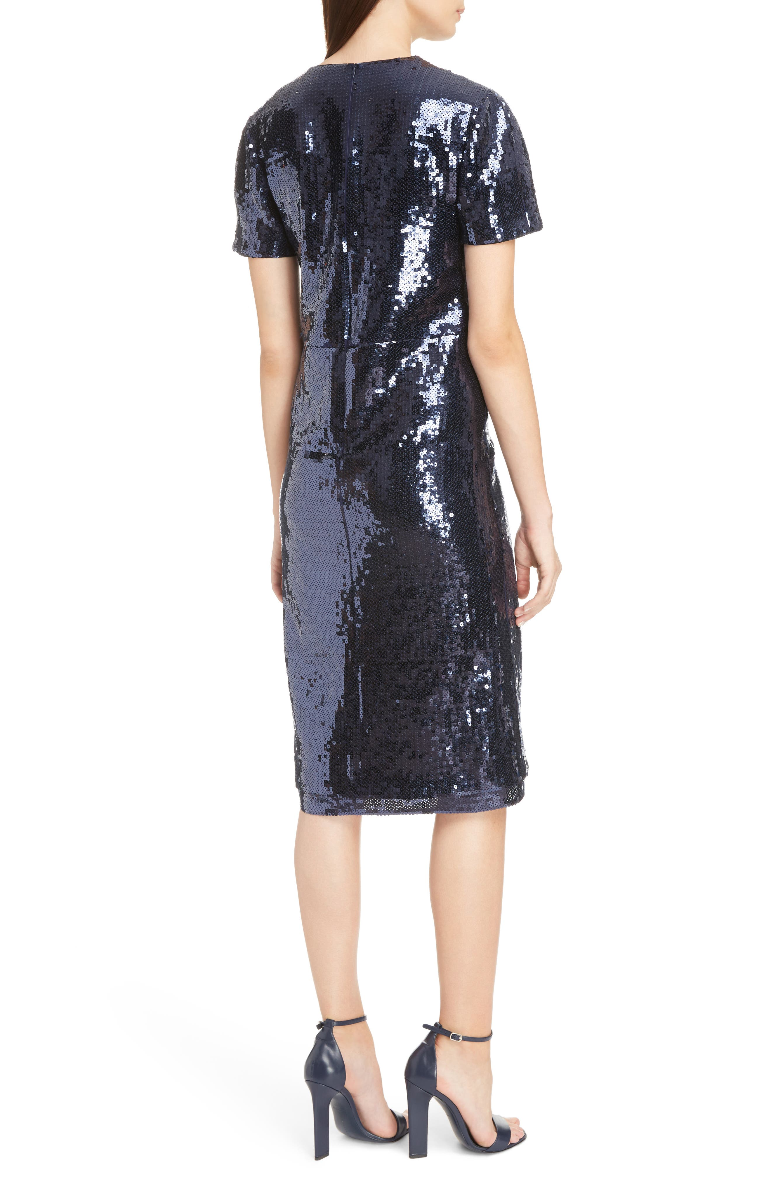 Sequin Shift Dress,                             Alternate thumbnail 2, color,                             400