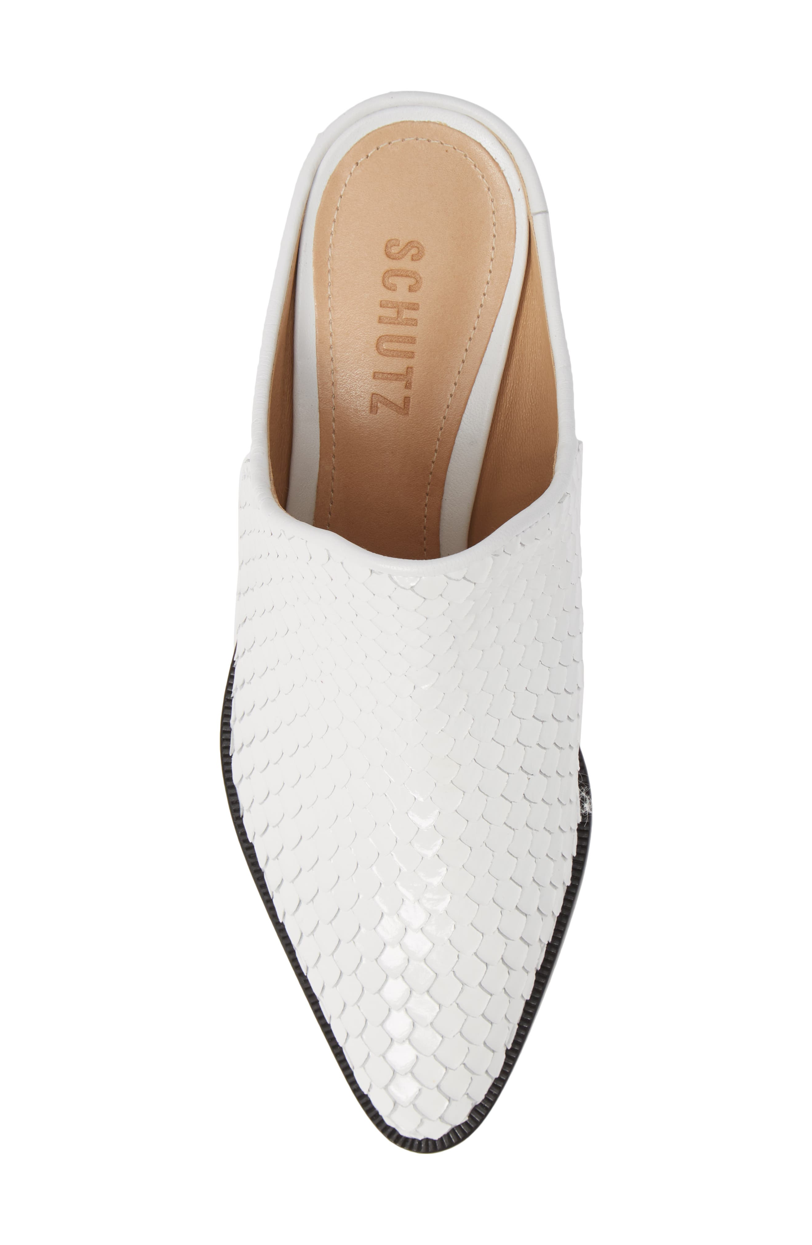 Leanny Mule,                             Alternate thumbnail 5, color,                             WHITE LEATHER