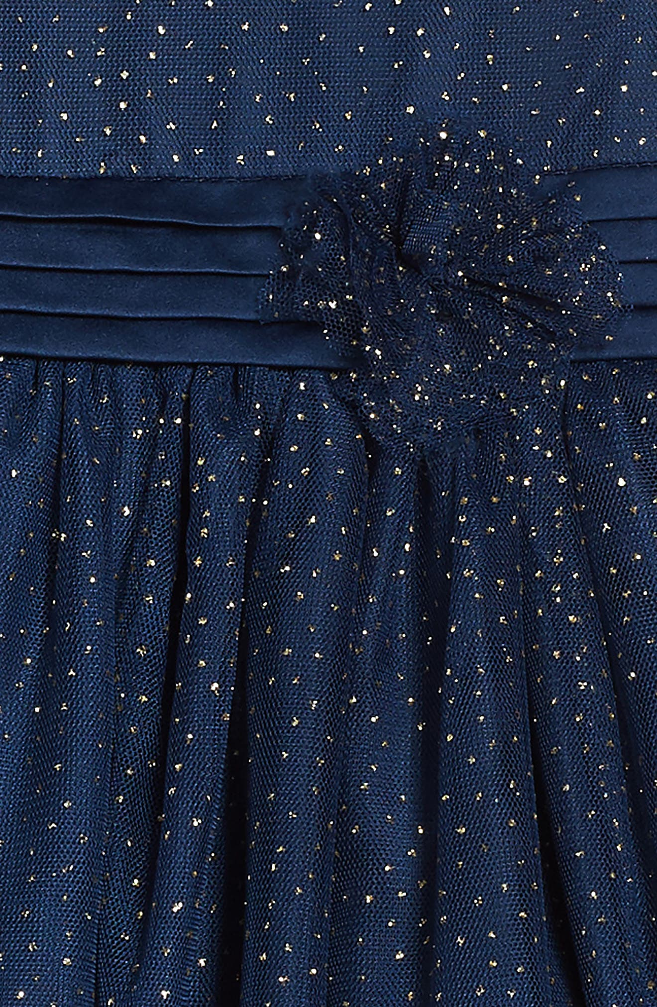 Illusion Mesh Party Dress,                             Alternate thumbnail 3, color,                             406