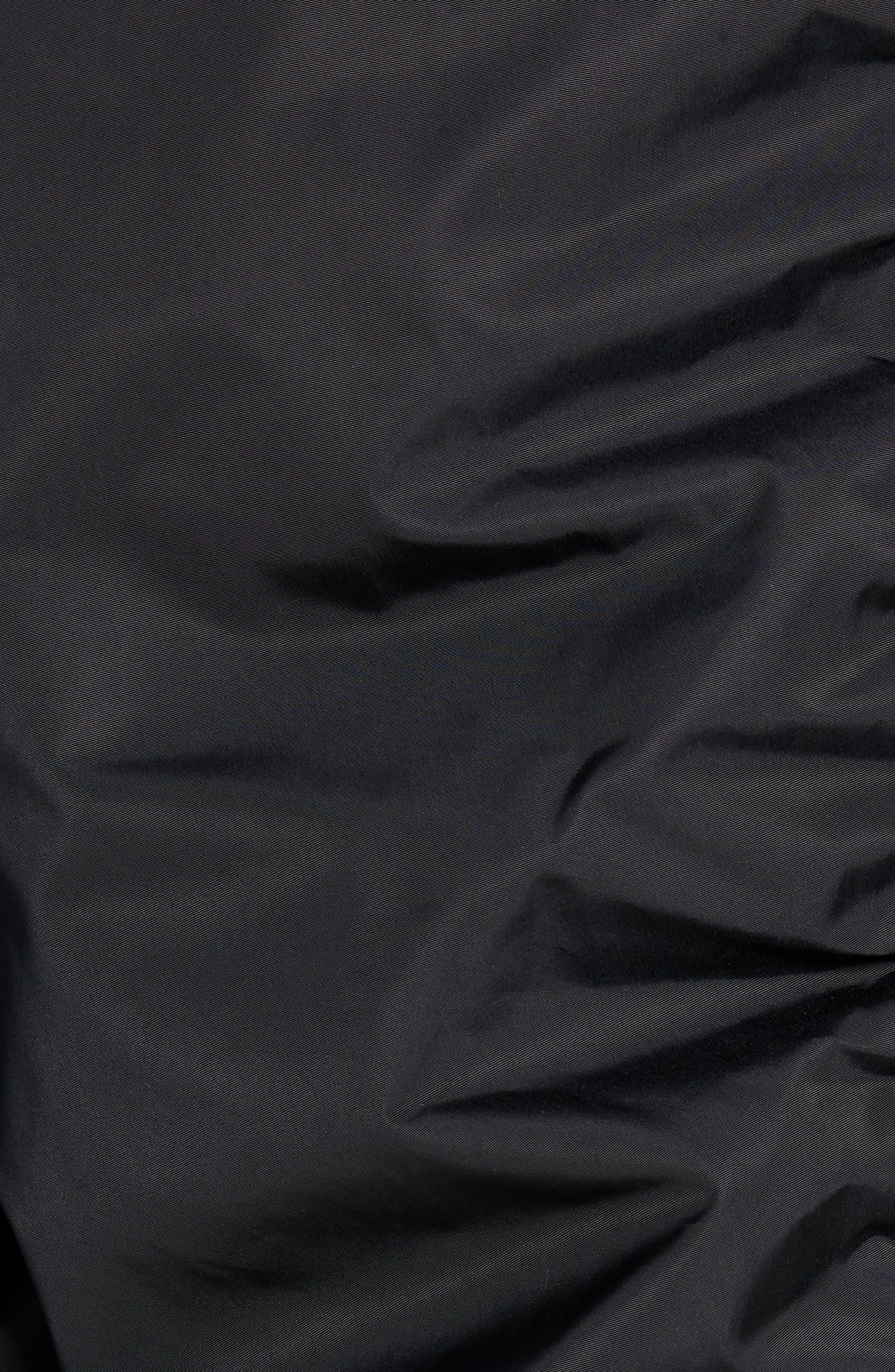 Hooded Nylon Bomber Jacket,                             Alternate thumbnail 7, color,                             BLACK ROCK