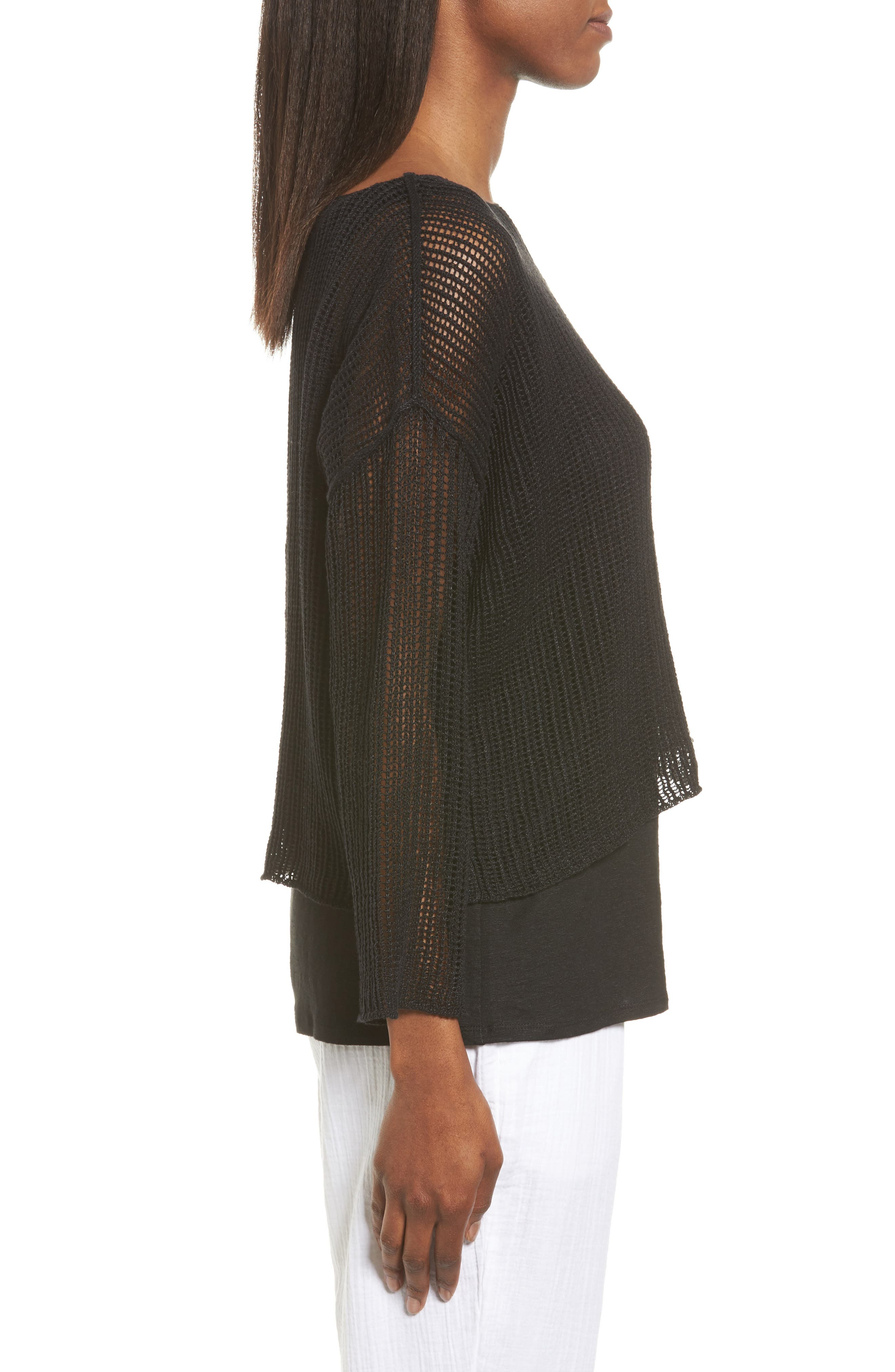 Organic Linen Crop Sweater,                             Alternate thumbnail 11, color,