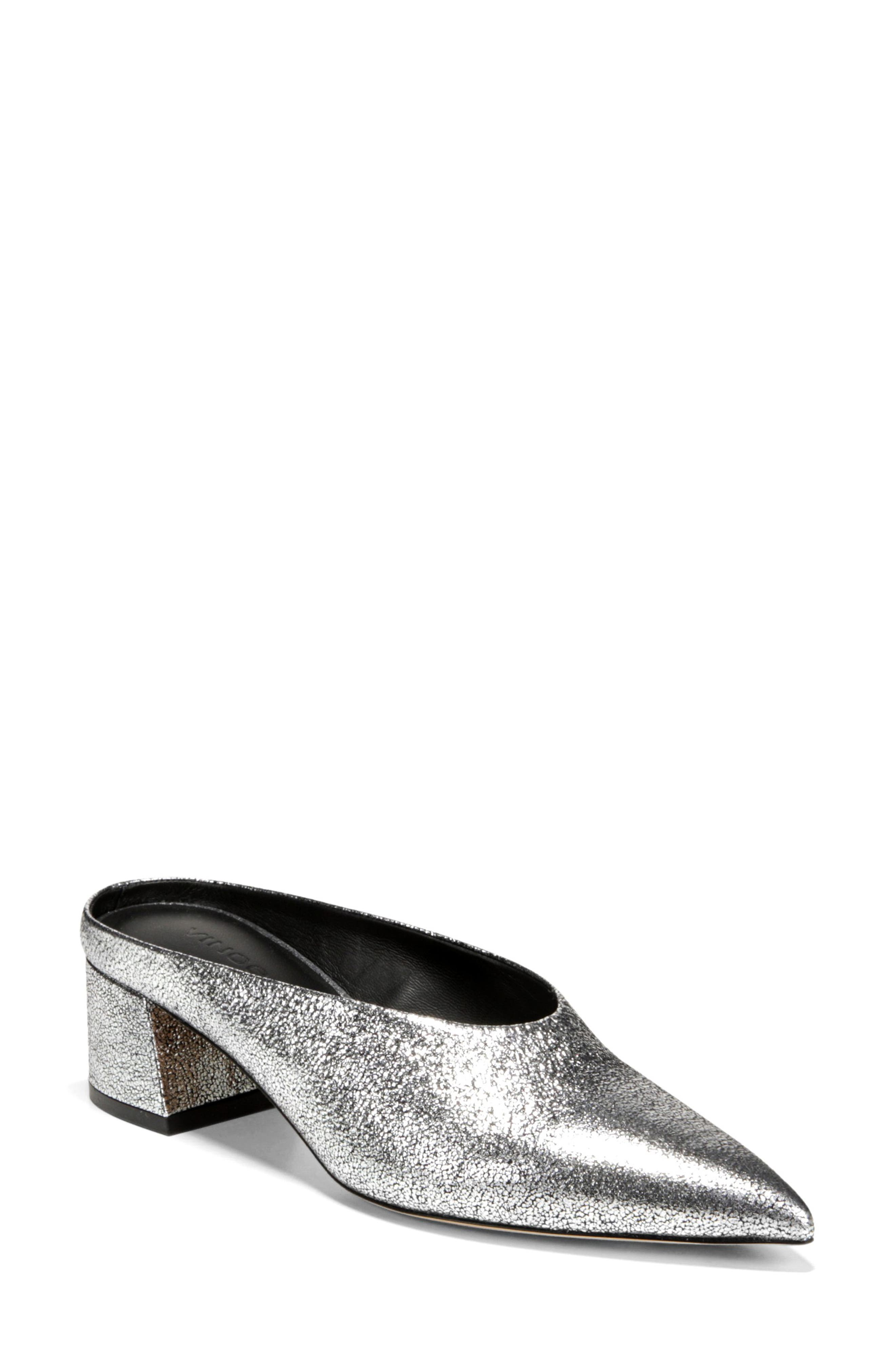 Ralston Pointy Toe Mule,                         Main,                         color, SILVER METALLIC