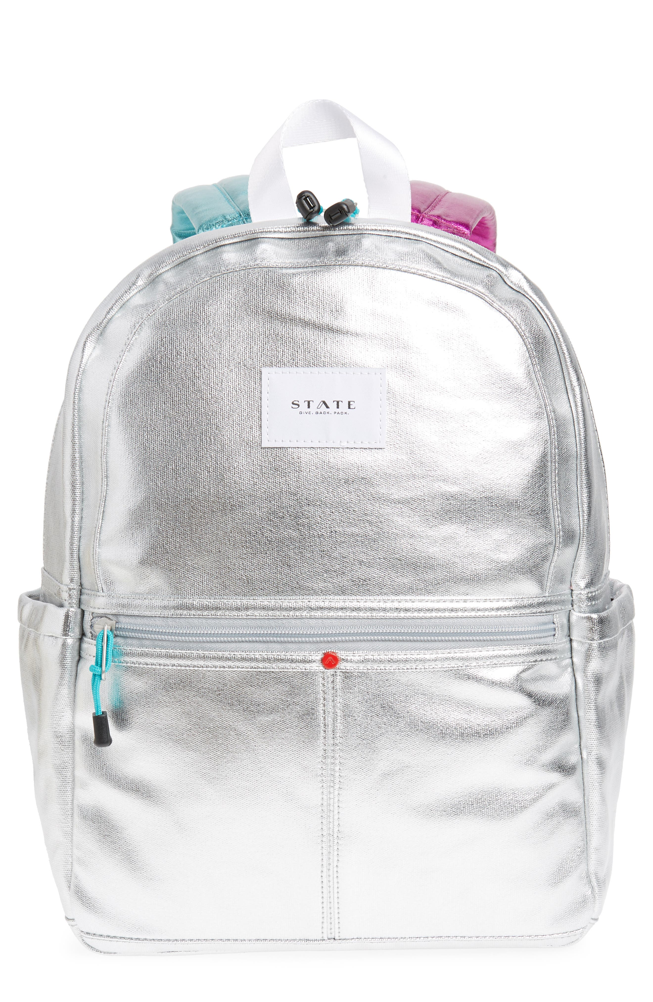 Kane Metallic Backpack,                         Main,                         color,