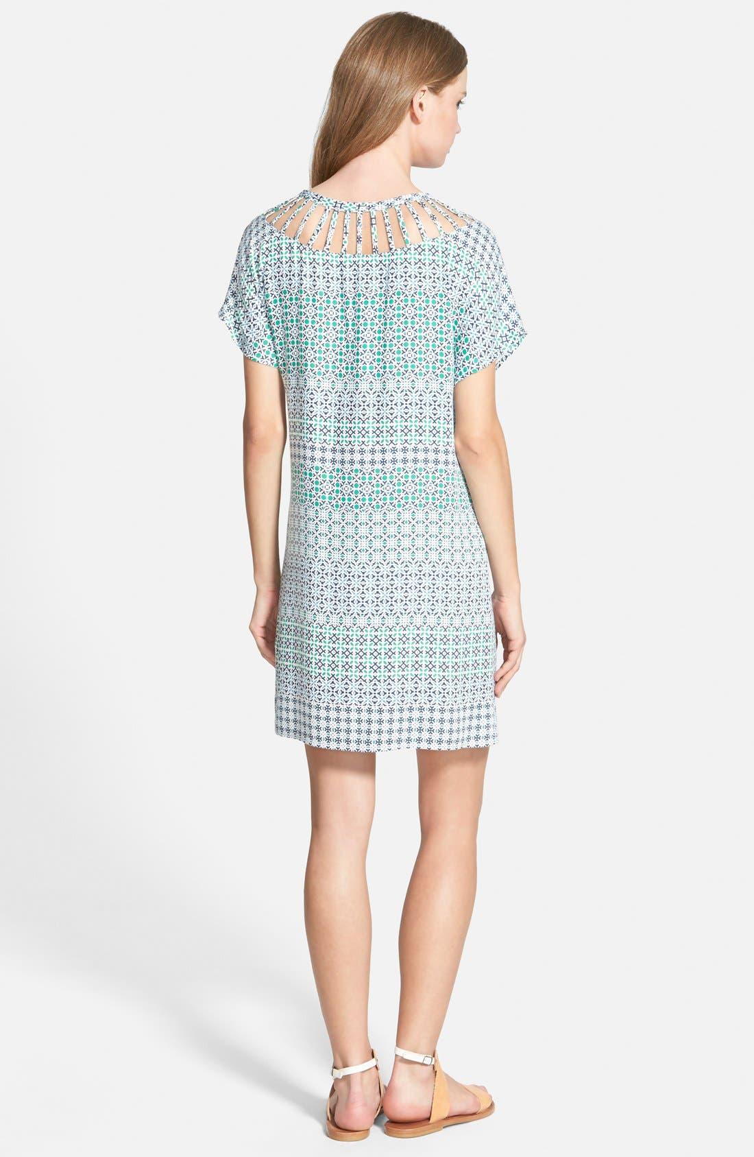 ELLA MOSS,                             'Mozaic' Short Sleeve Shift Dress,                             Alternate thumbnail 3, color,                             300