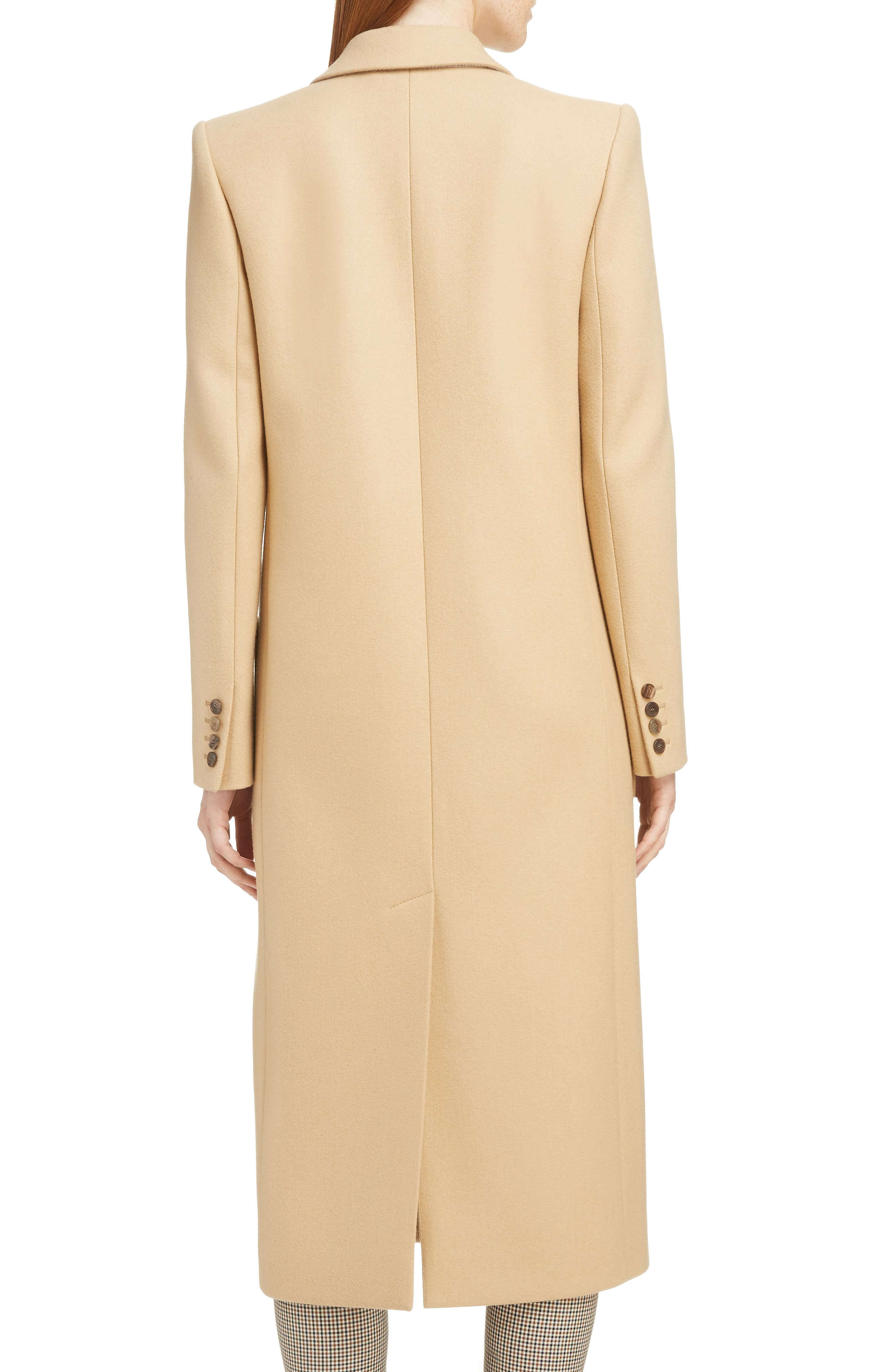 GIVENCHY,                             Double Breasted Wool Coat,                             Alternate thumbnail 2, color,                             250-BEIGE