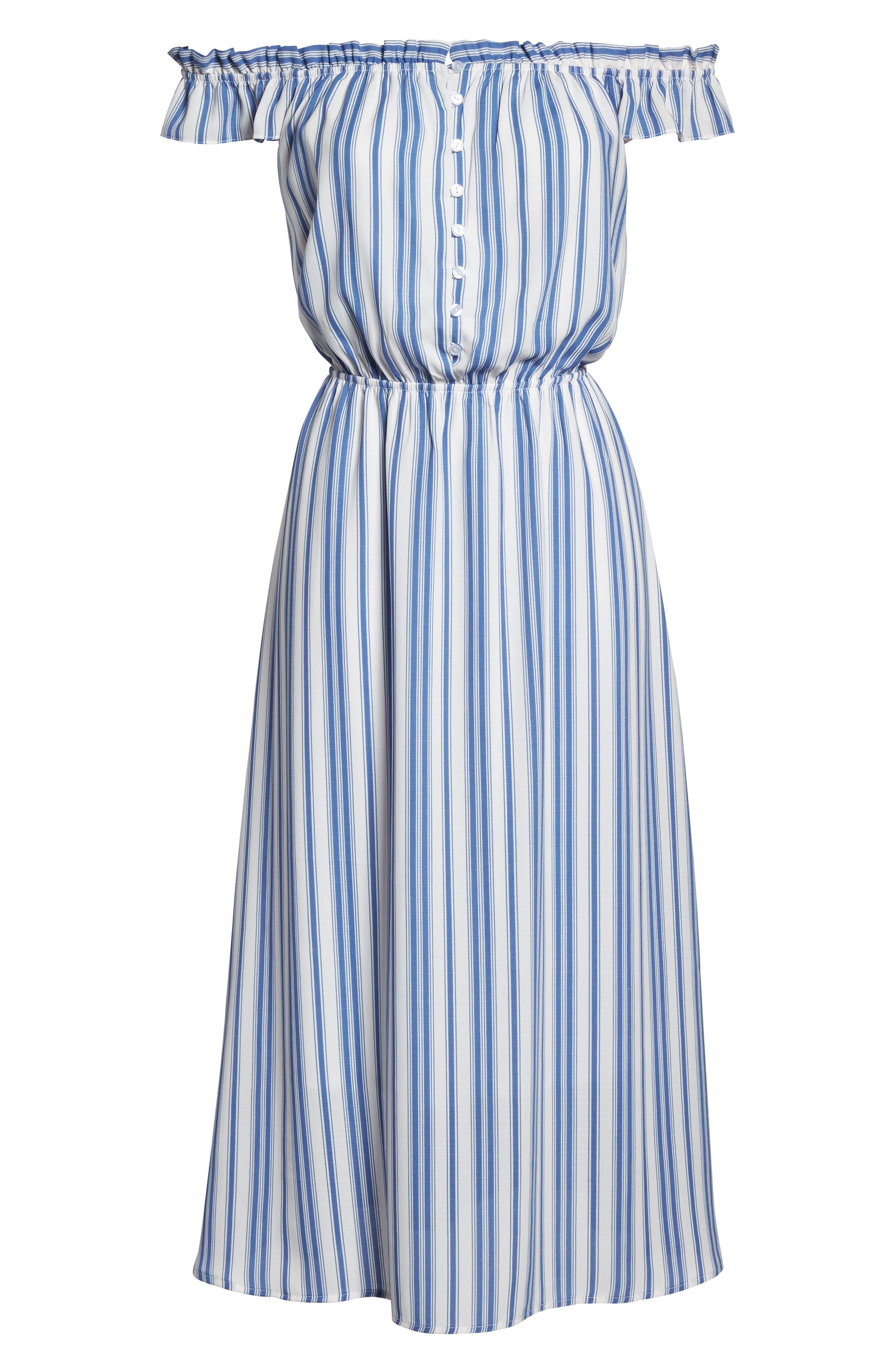 Prairie Off the Shoulder Dress,                             Alternate thumbnail 6, color,                             452