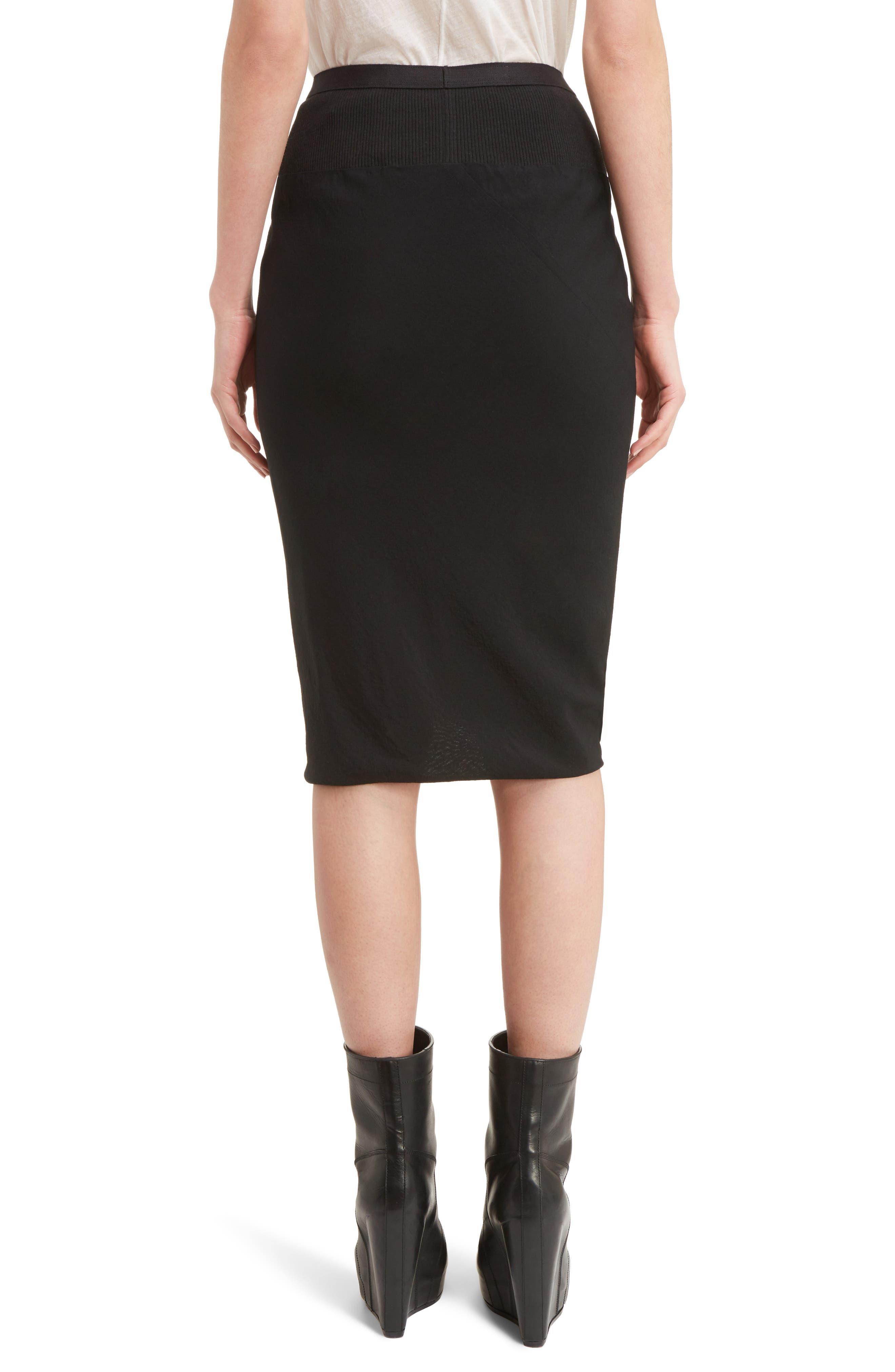 Knit Waist Skirt,                             Alternate thumbnail 2, color,                             009