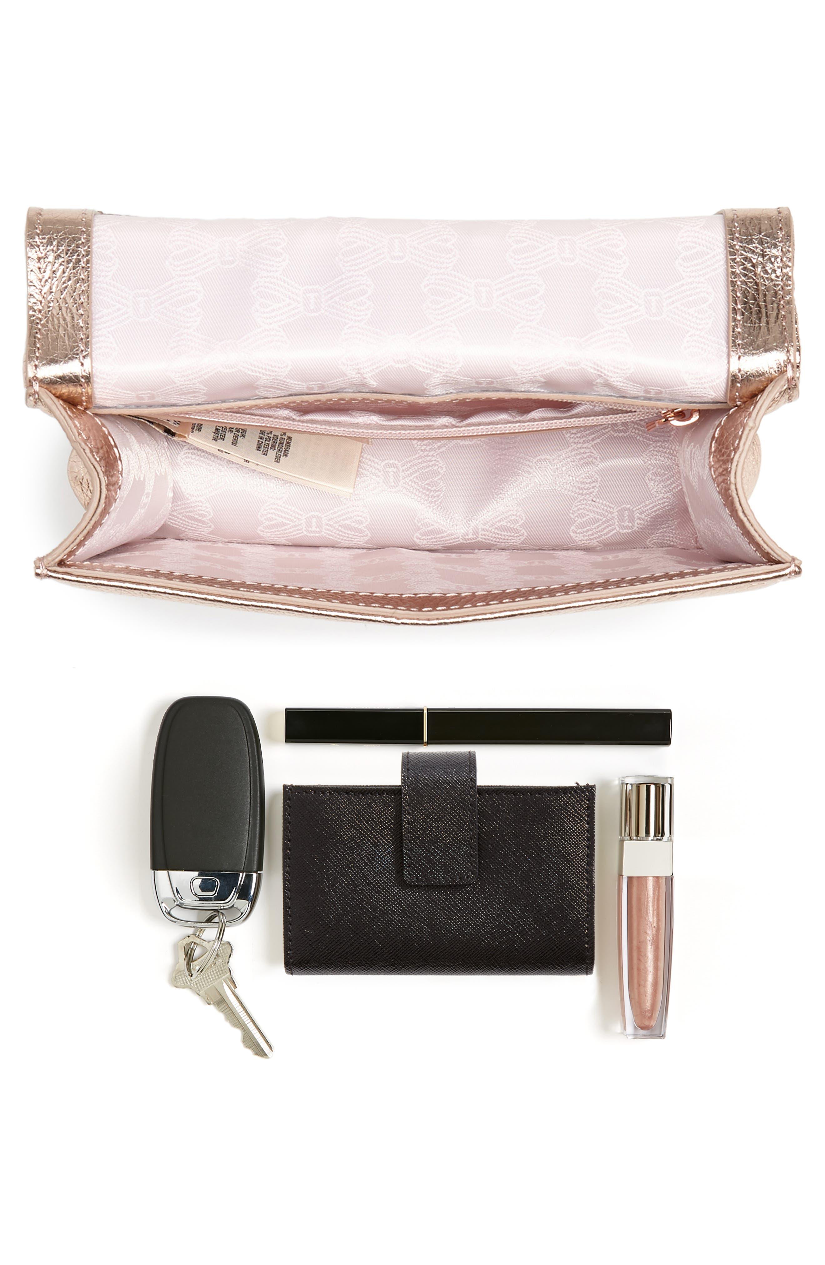 Micro Leather Crossbody Bag,                             Alternate thumbnail 7, color,                             712