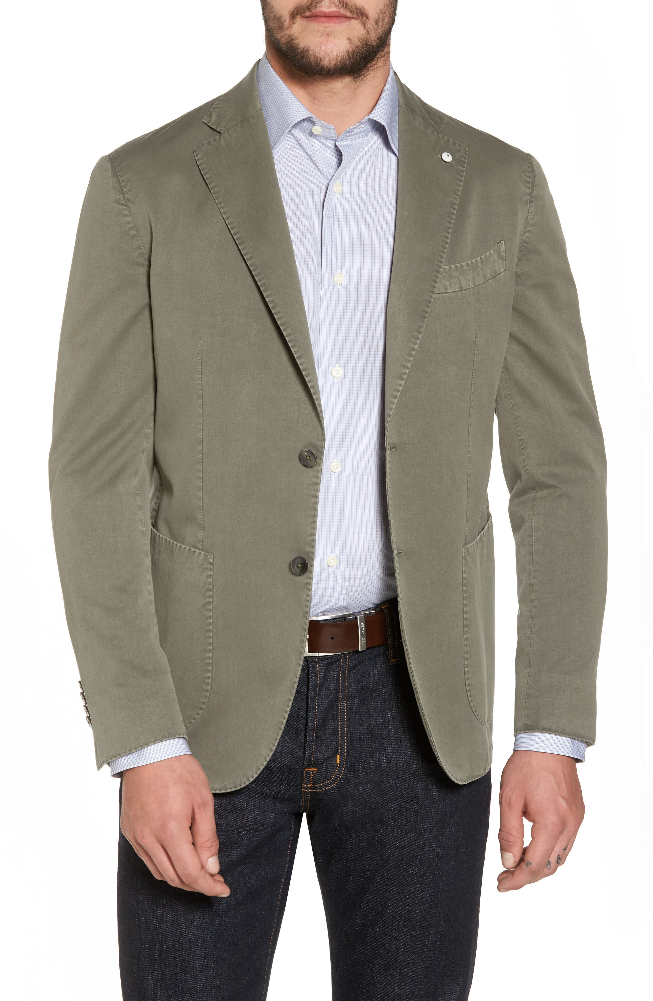 Classic Fit Cotton & Silk Blazer,                             Main thumbnail 1, color,                             330