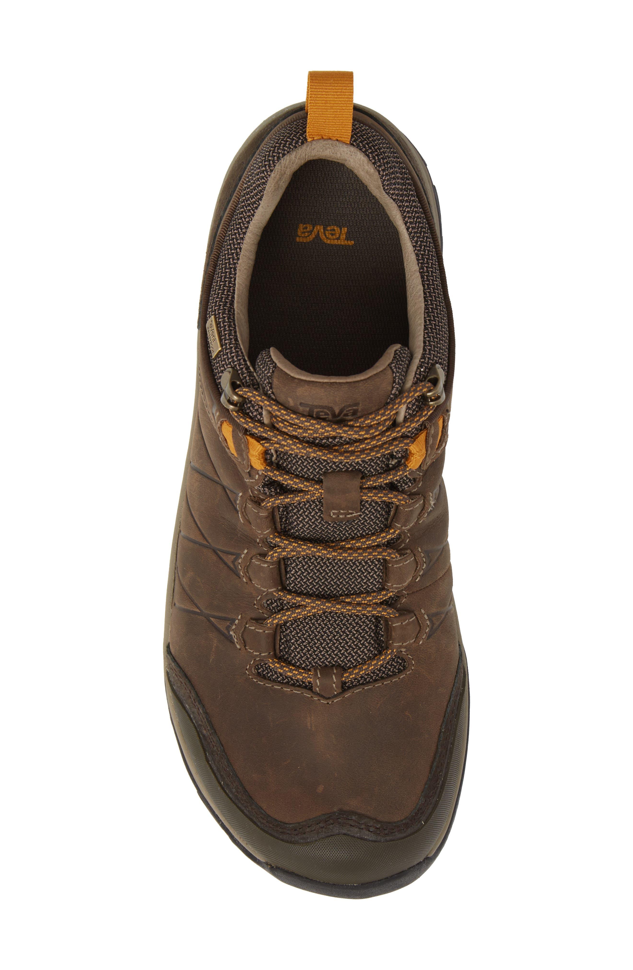 Arrowood Riva Waterproof Sneaker,                             Alternate thumbnail 5, color,                             WALNUT LEATHER
