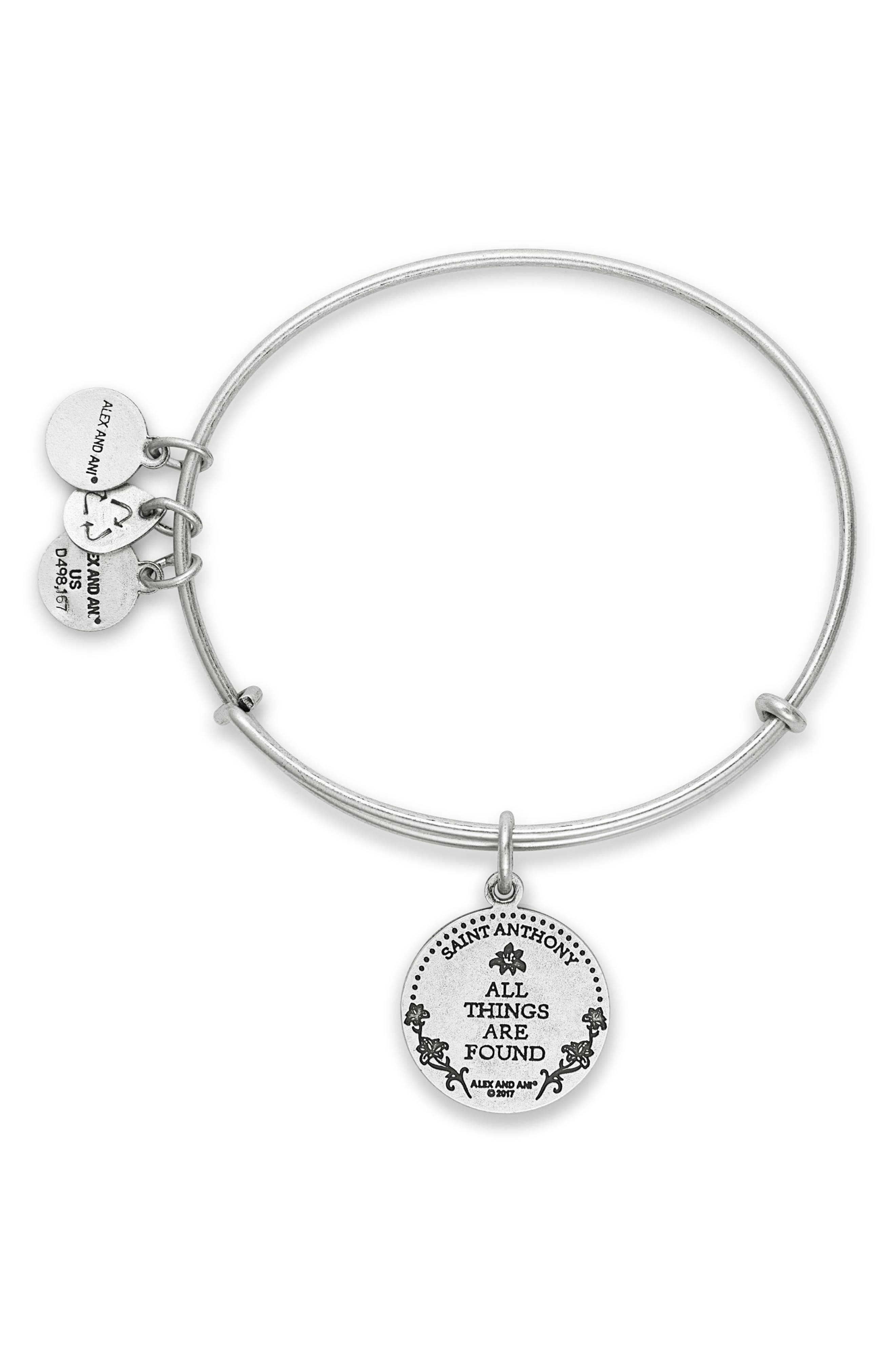 St. Anthony Adjustable Wire Bangle,                             Alternate thumbnail 2, color,                             040