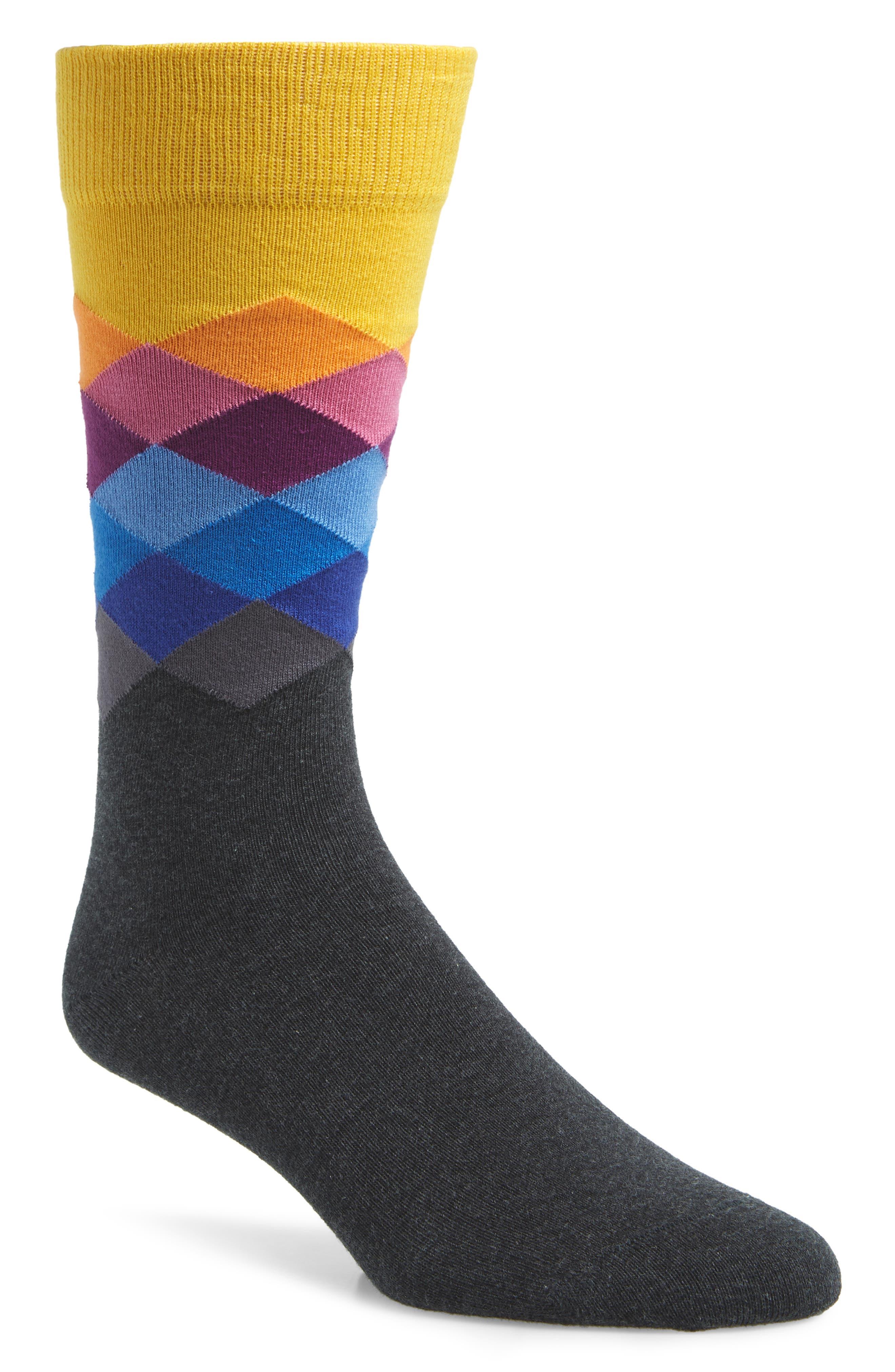 Diamond Socks,                             Main thumbnail 1, color,                             001
