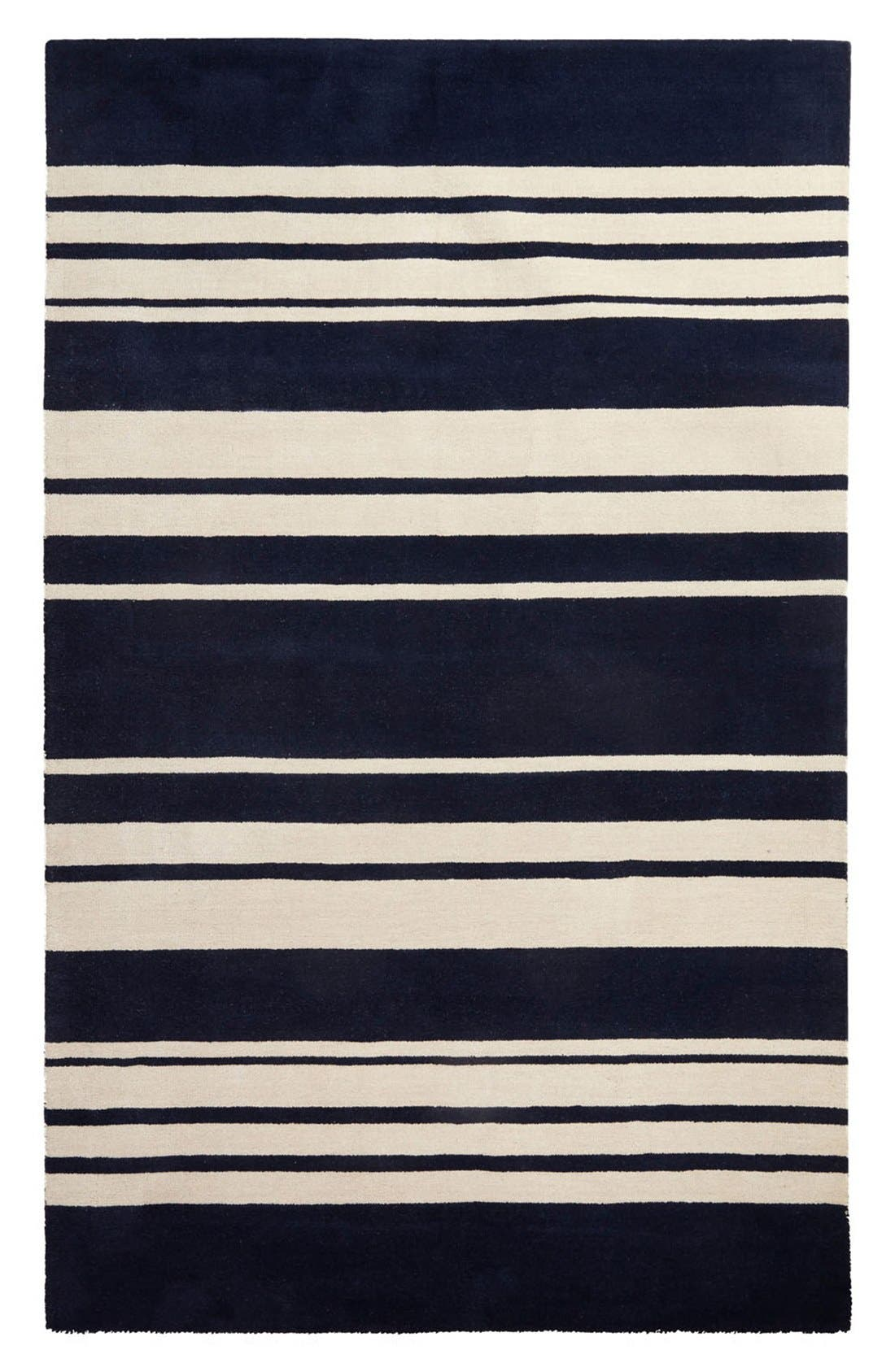 'astor stripe' wool rug,                             Main thumbnail 2, color,