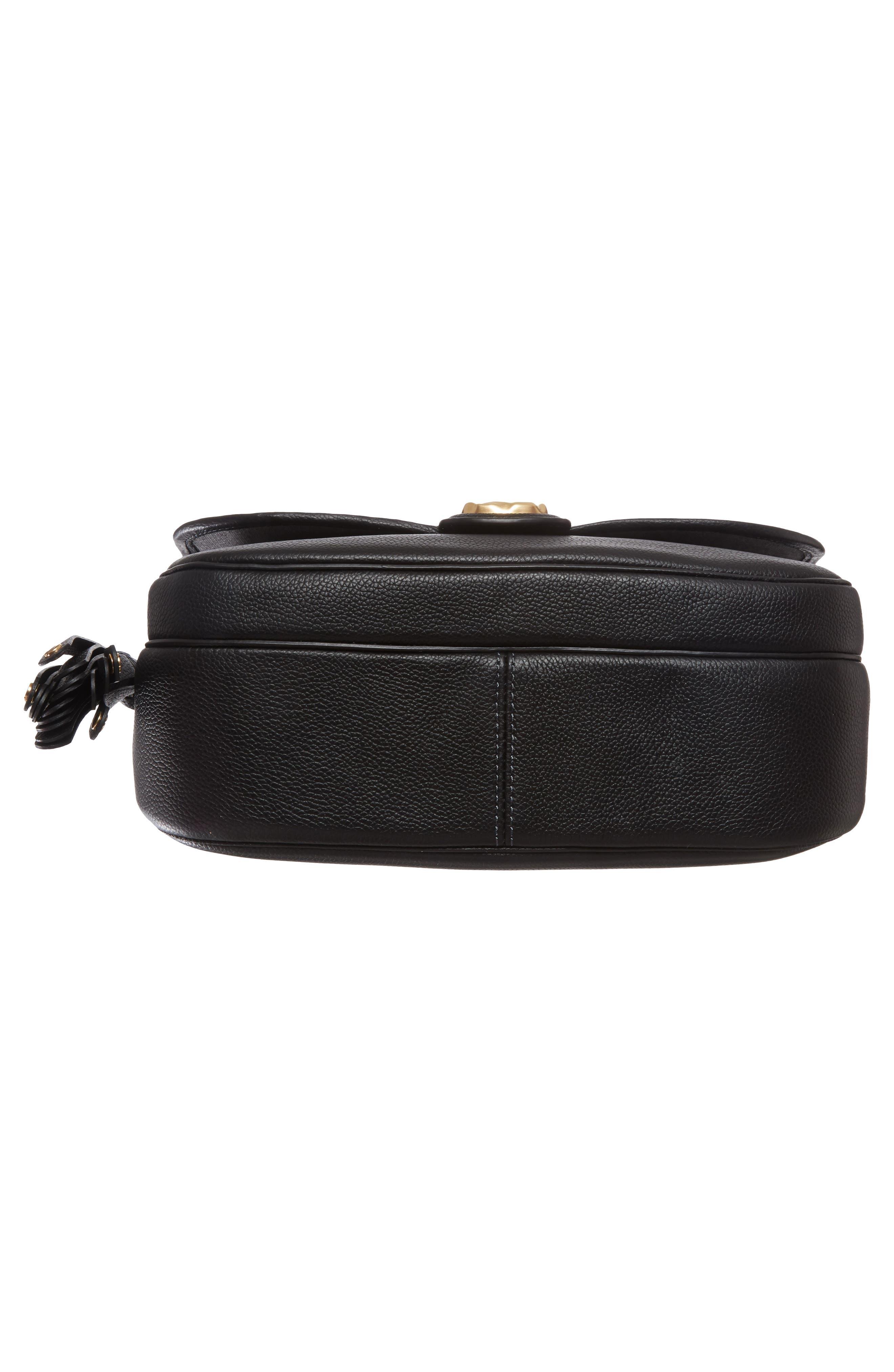 Interlock Leather Crossbody Bag,                             Alternate thumbnail 6, color,                             001