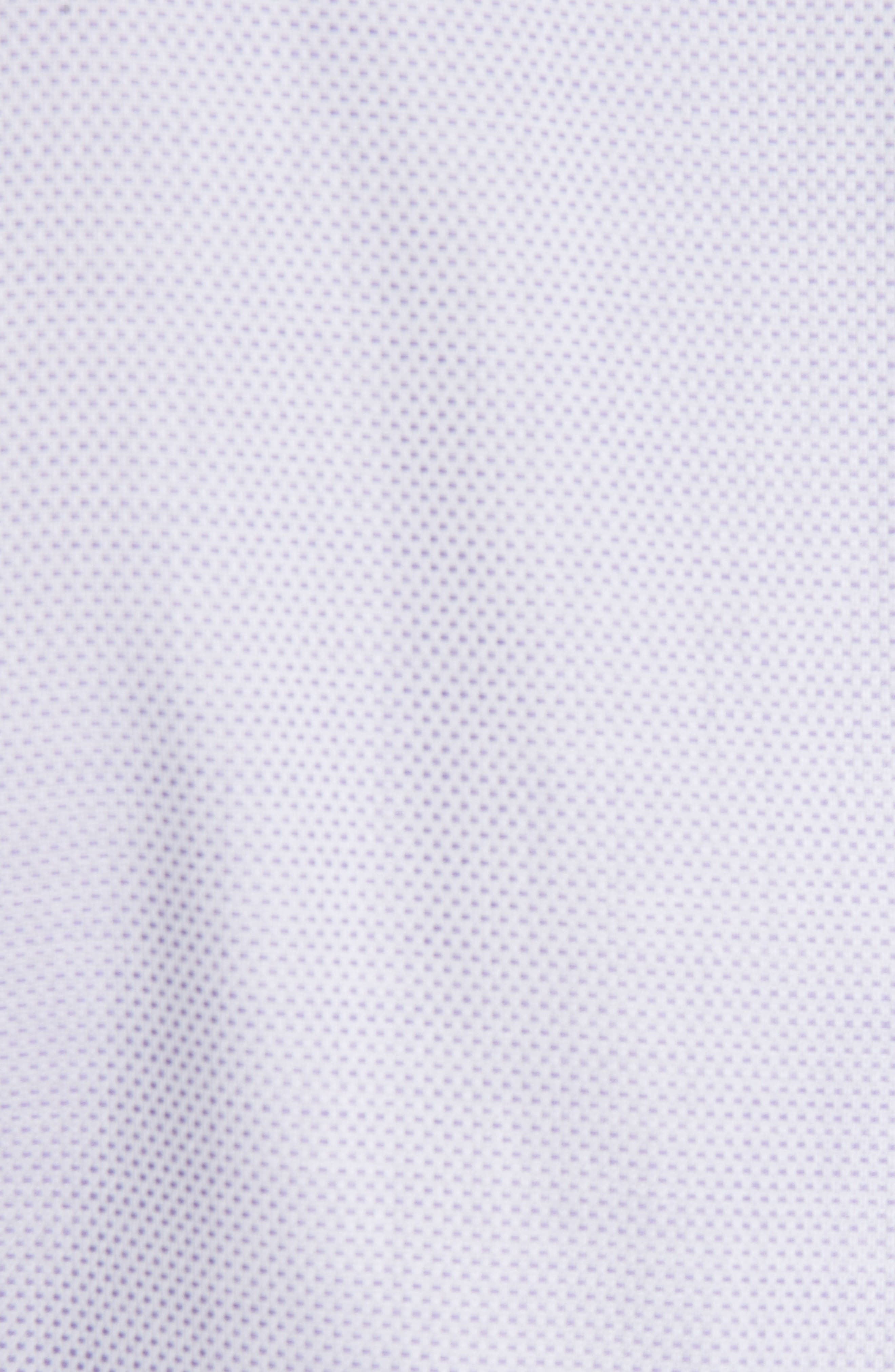 Trim Fit Dress Shirt,                             Alternate thumbnail 5, color,                             LIGHT PURPLE