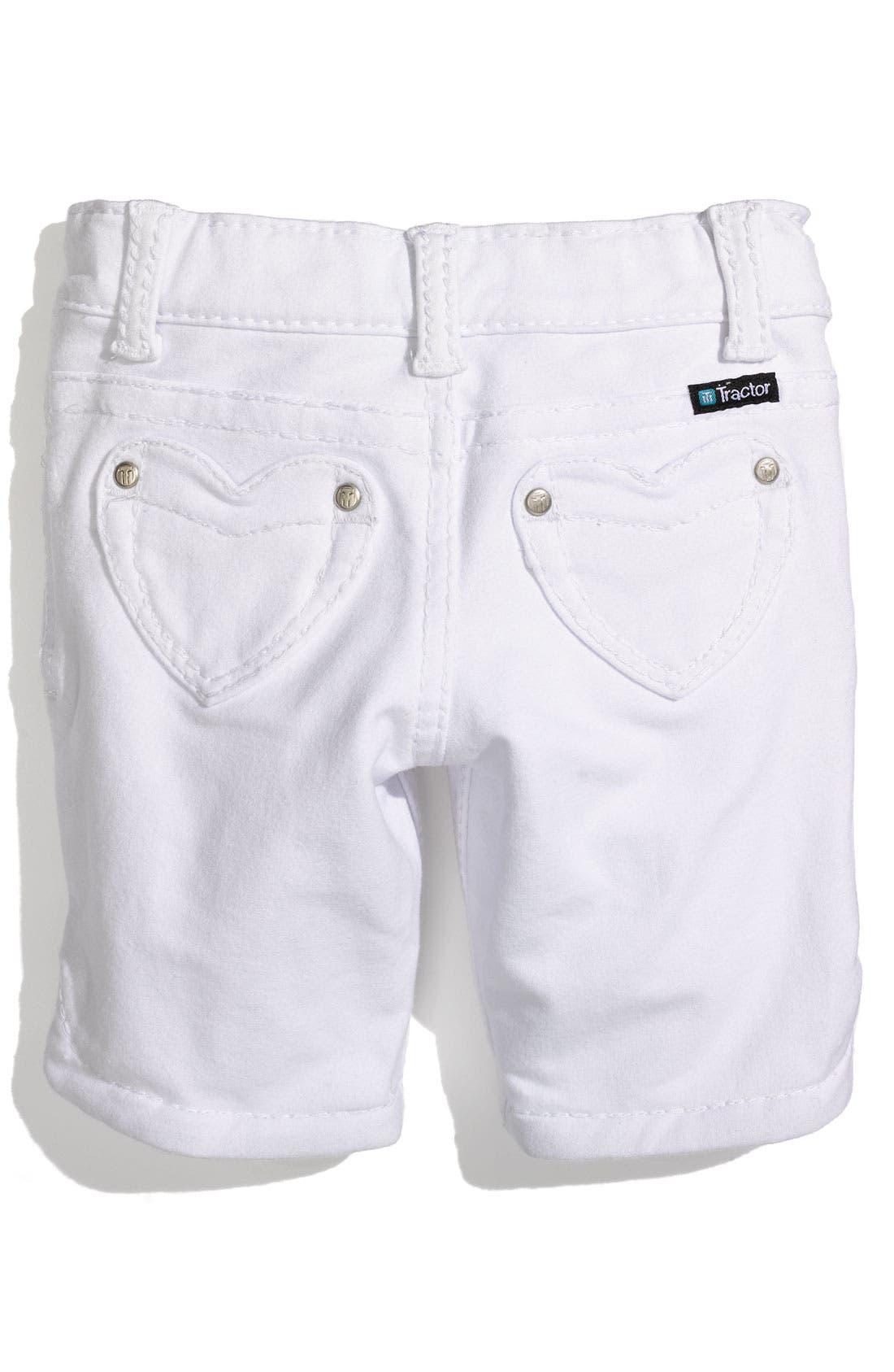 TRACTR Heart Pocket Bermuda Shorts, Main, color, 100