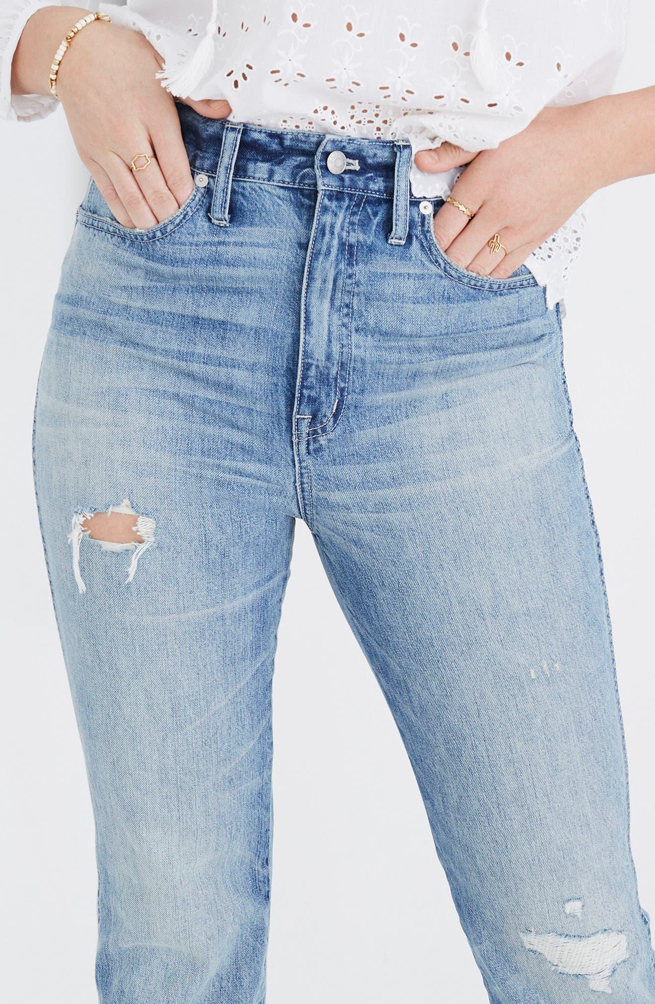 Rigid Crop Demi Boot Jeans,                             Alternate thumbnail 5, color,                             ROWES