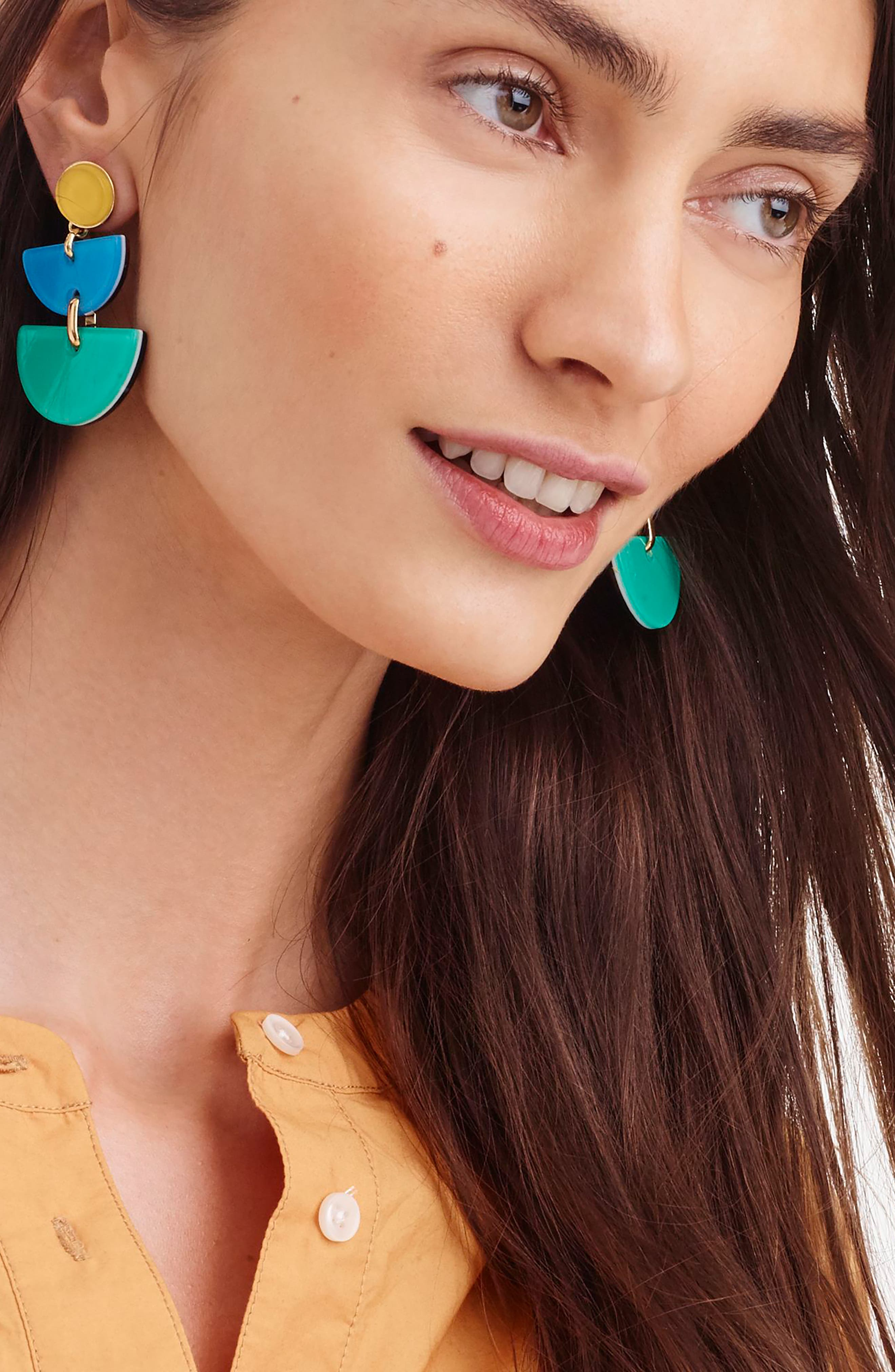 Half-Moon Lucite<sup>®</sup> Earrings,                             Alternate thumbnail 3, color,