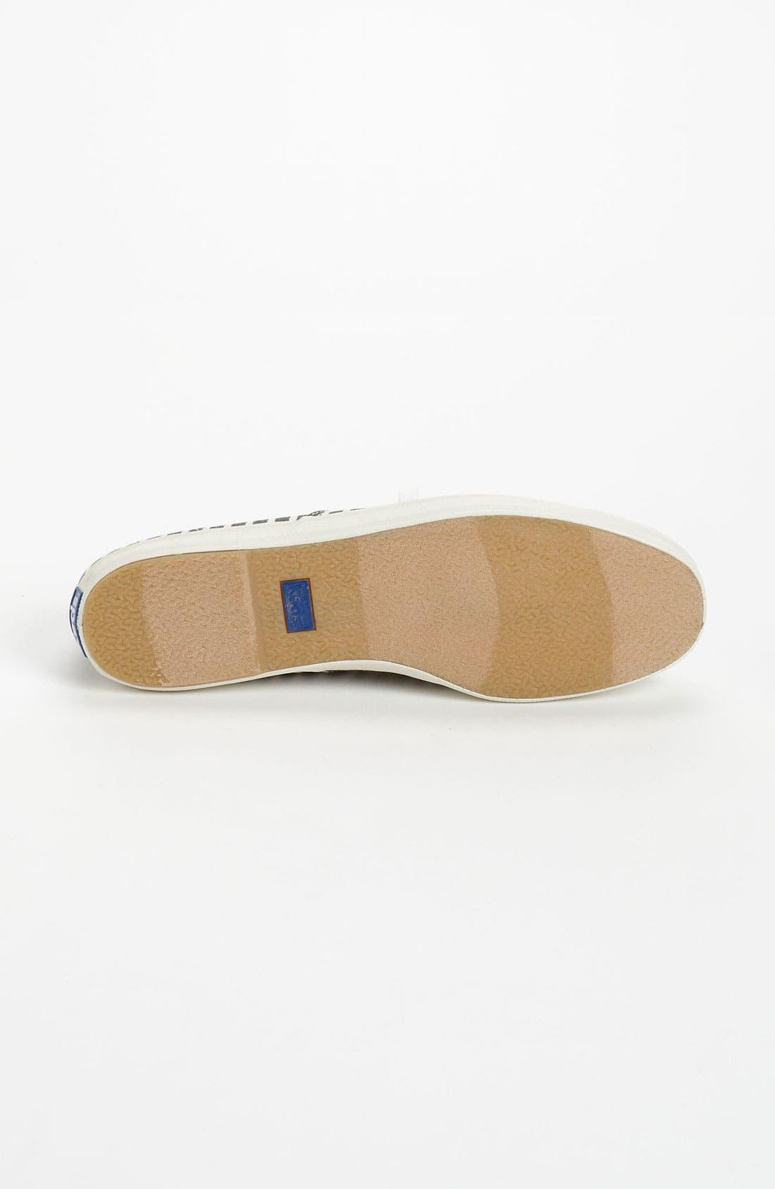 'Champion Prep Stripe' Sneaker,                             Alternate thumbnail 4, color,                             001