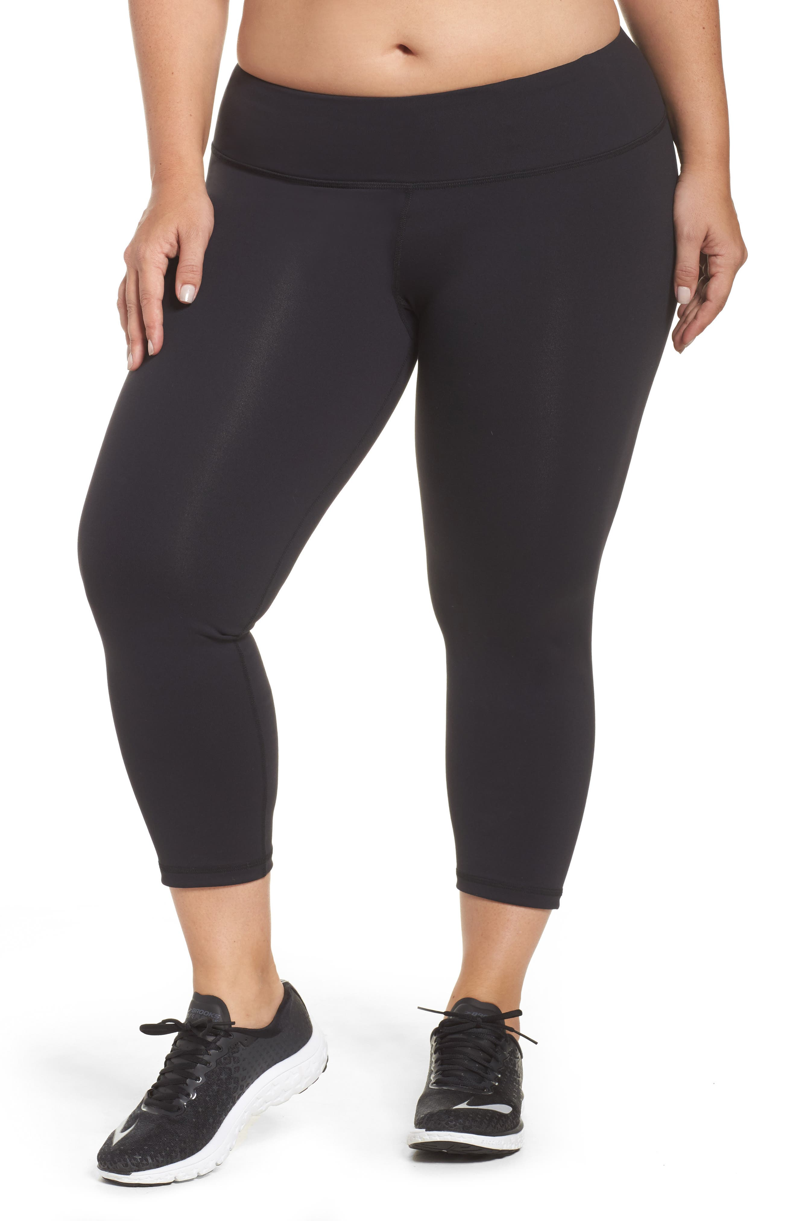Crop Leggings,                             Main thumbnail 1, color,                             BLACK