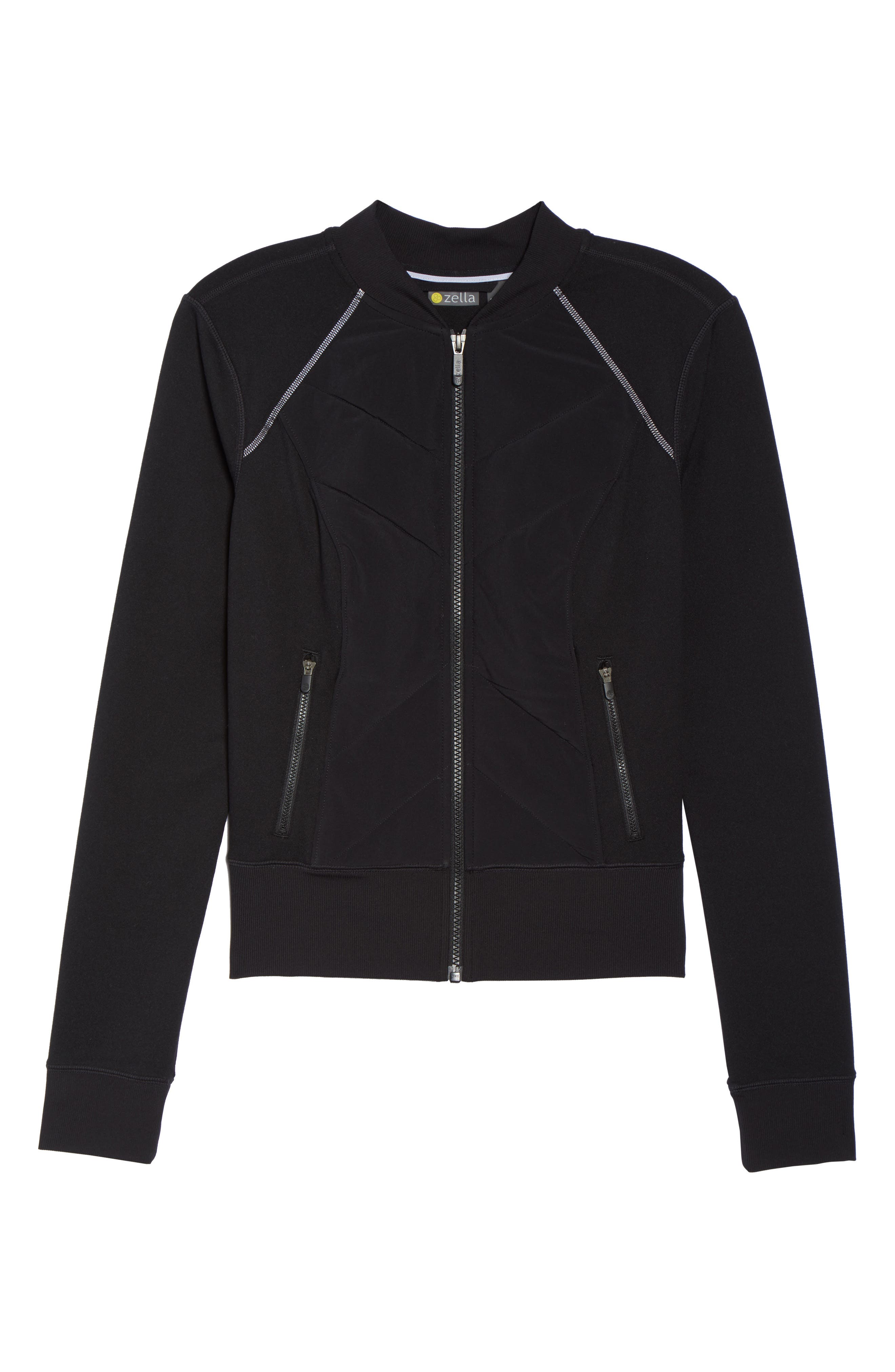 Wear It Out Bomber Jacket,                             Alternate thumbnail 6, color,                             001