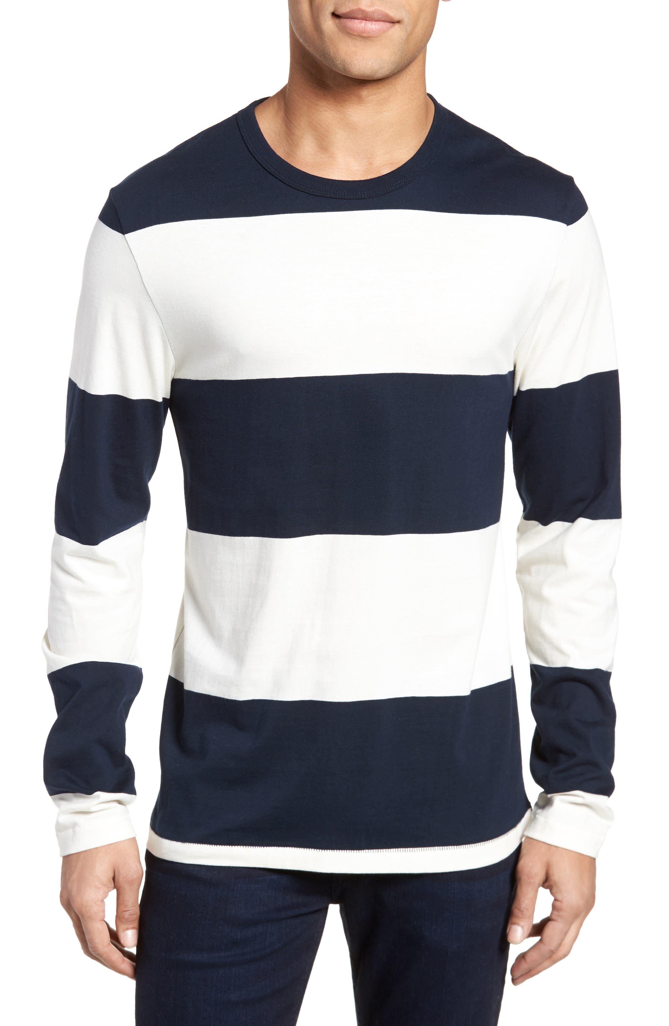 Regular Fit Block Stripe Shirt,                             Main thumbnail 1, color,                             100