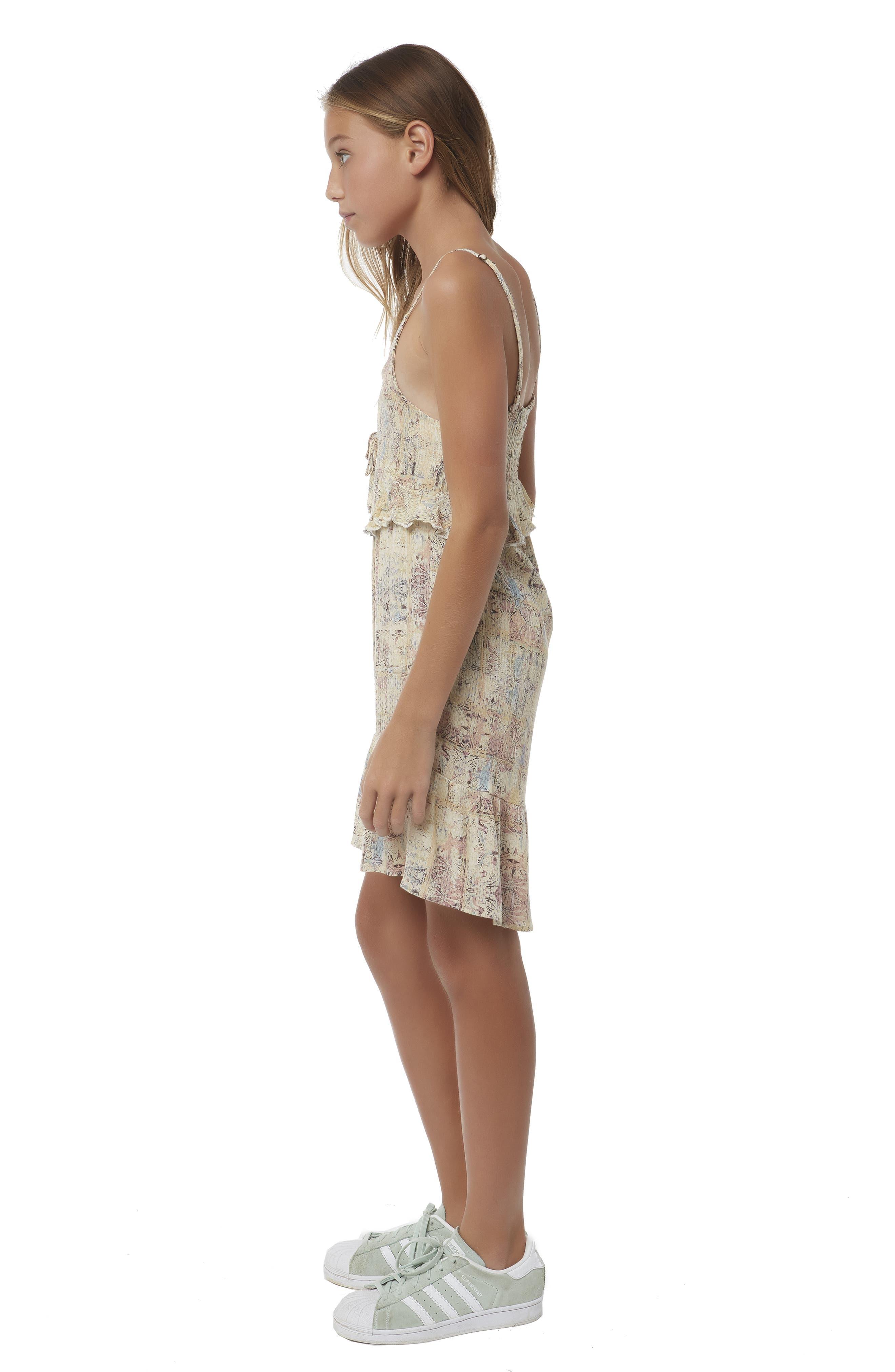 Lithia Peplum High/Low Dress,                             Alternate thumbnail 6, color,                             MULTI COLORED
