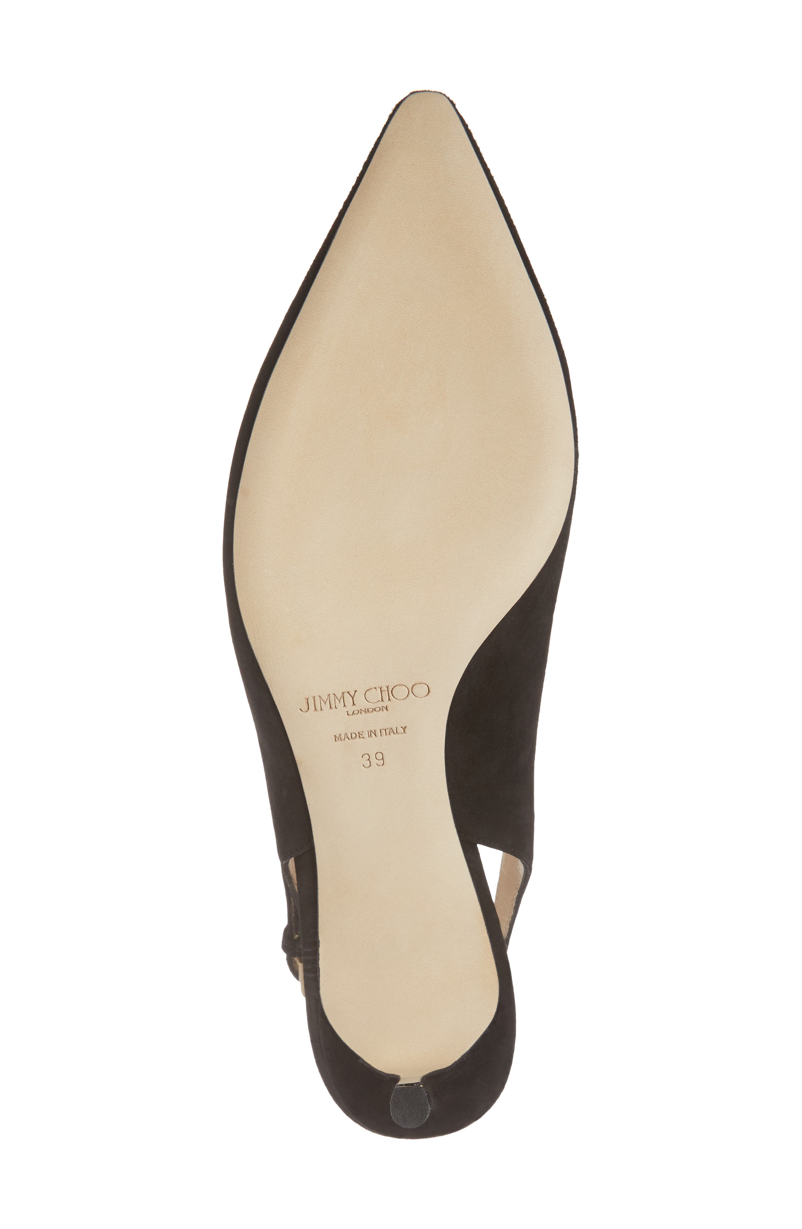 Erin Pointy Toe Slingback Pump,                             Alternate thumbnail 6, color,                             BLACK