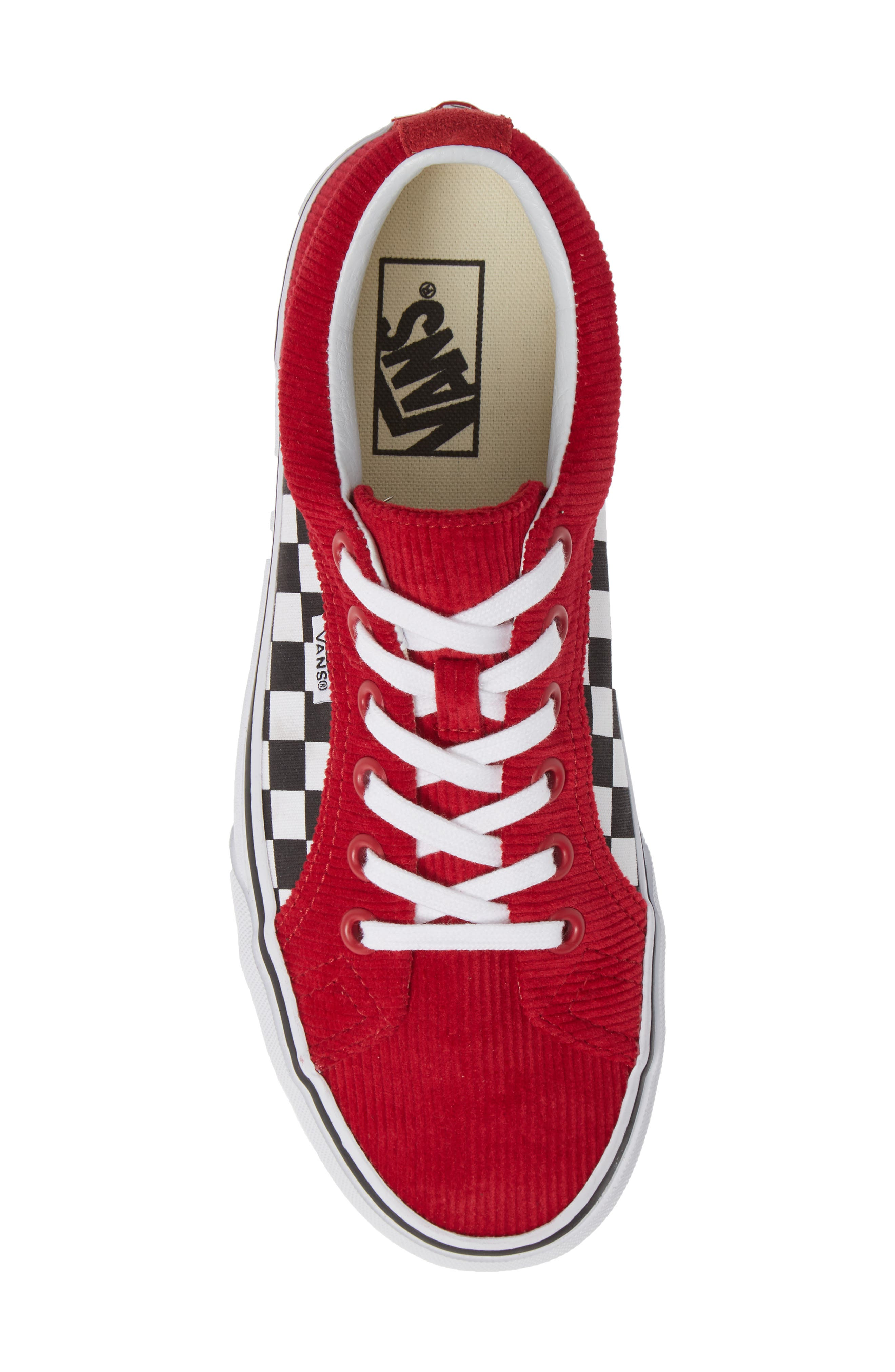 Lampin Corduroy Sneaker,                             Alternate thumbnail 5, color,                             SCOOTER/ TRUE WHITE CANVAS