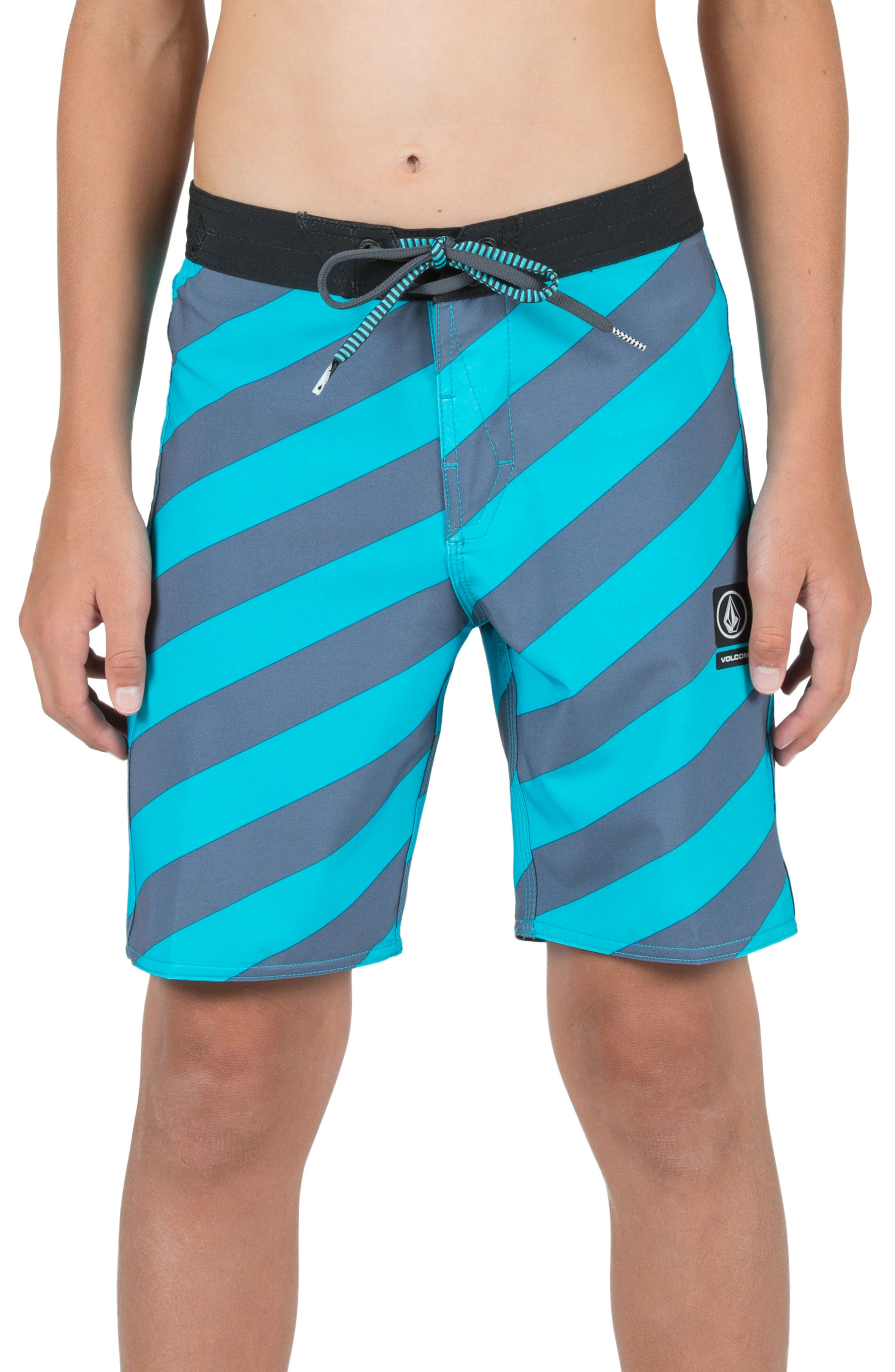 Stripey Jammer Board Shorts,                             Main thumbnail 5, color,