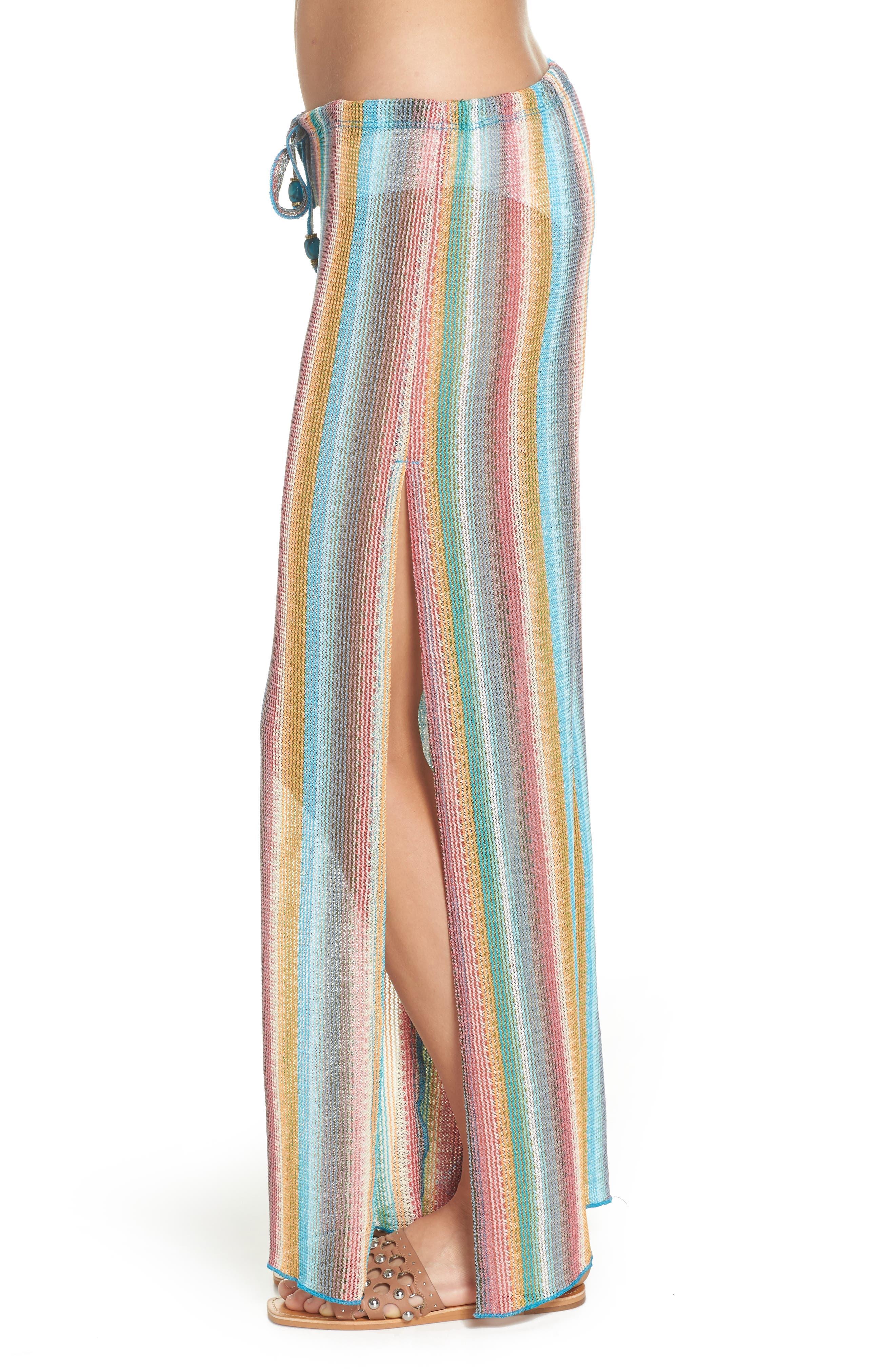 Seville Cover-Up Pants,                             Alternate thumbnail 4, color,                             ORANGE MULTI